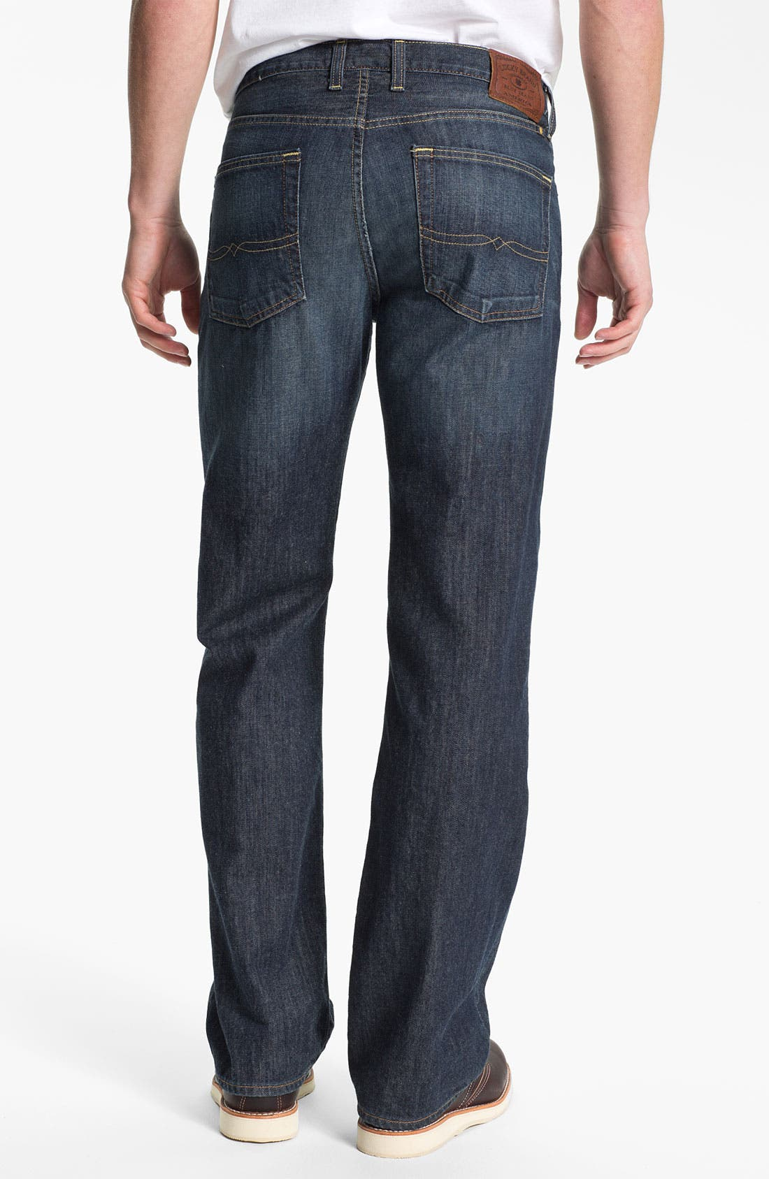 Alternate Image 2  - Lucky Brand '361 Vintage' Straight Leg Jeans (Dark Bordeaux)