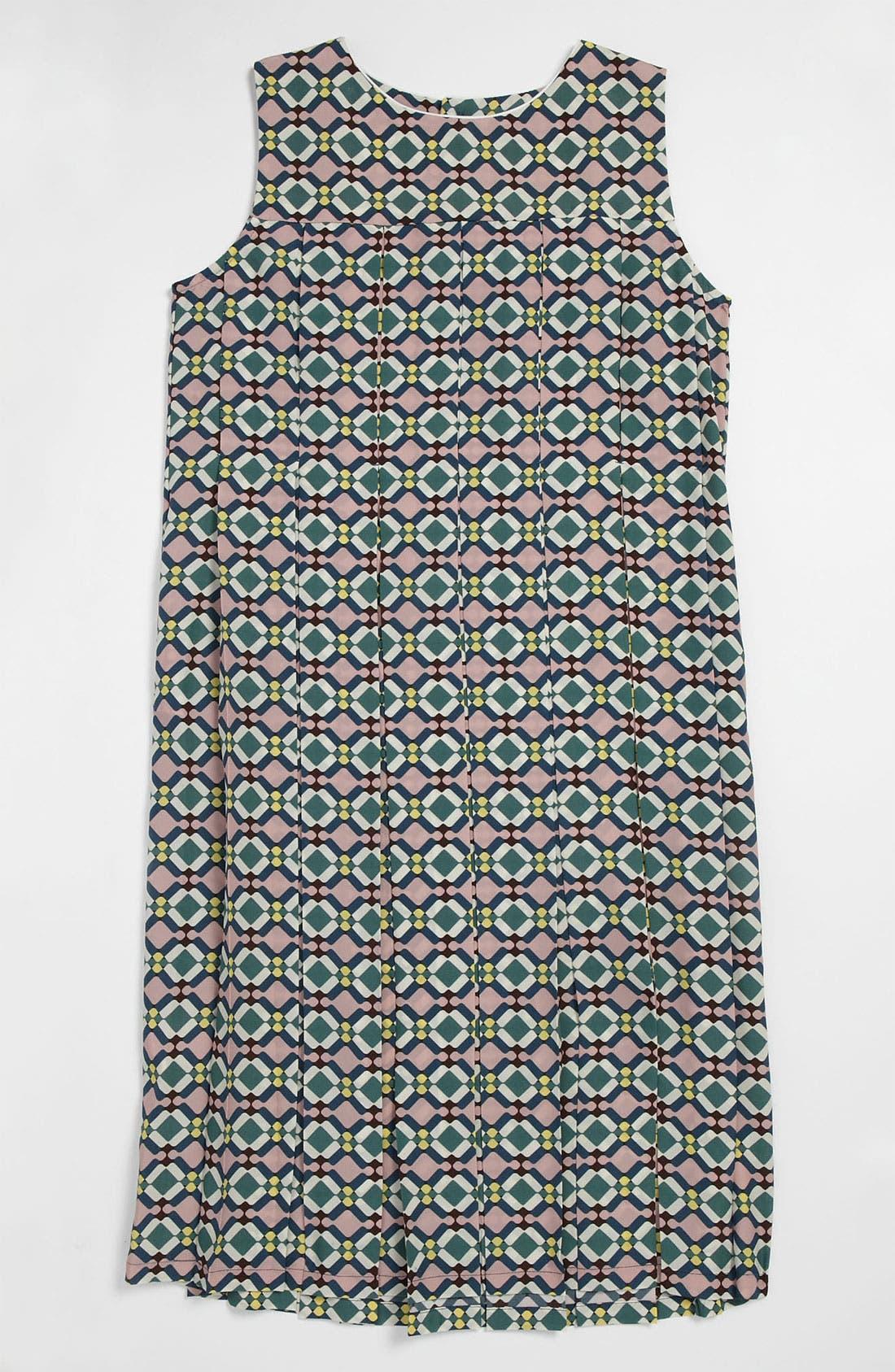 Main Image - Marni Print Pleat Dress (Little Girls & Big Girls)