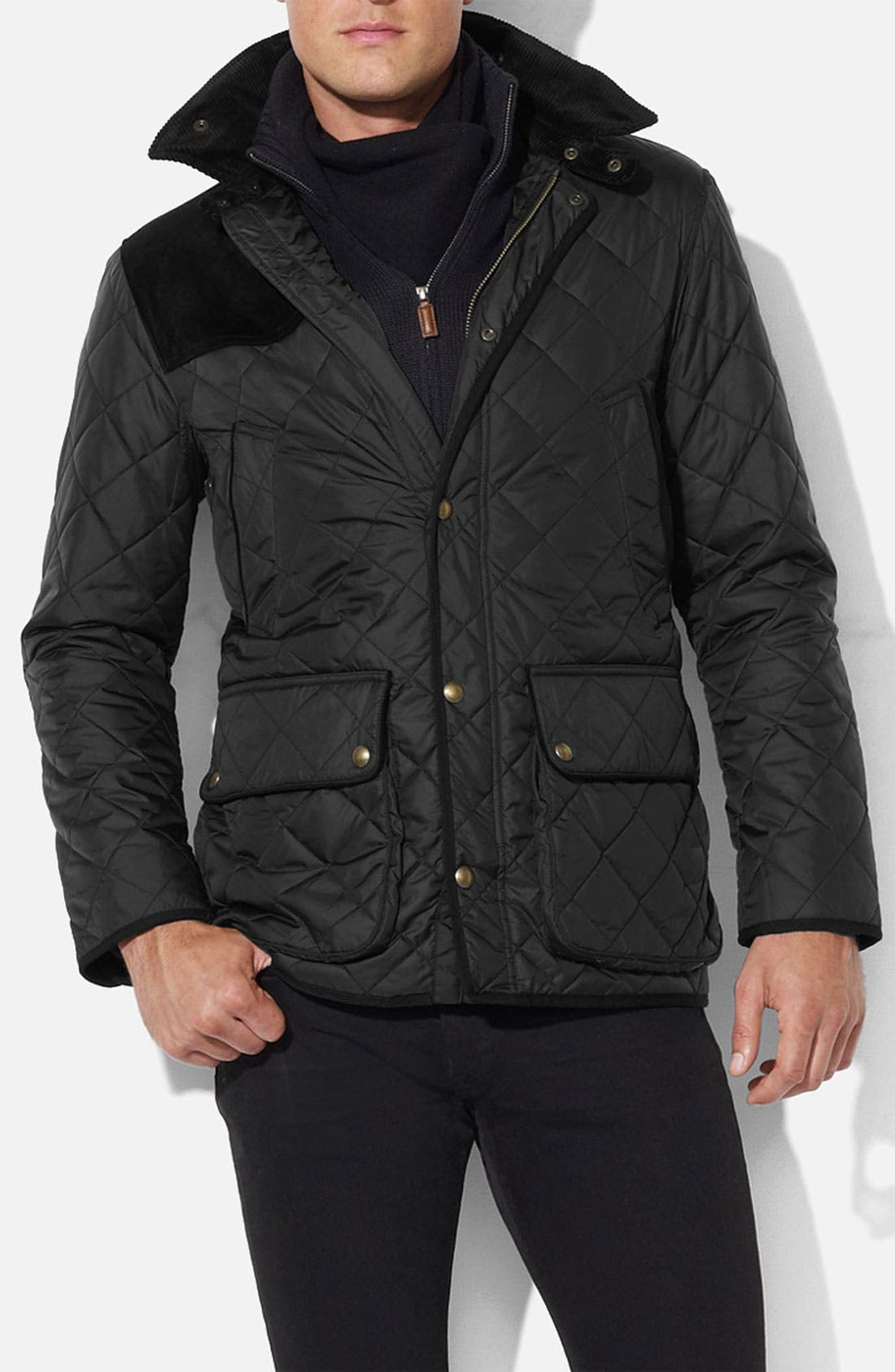 Alternate Image 1 Selected - Polo Ralph Lauren Quilted Car Coat