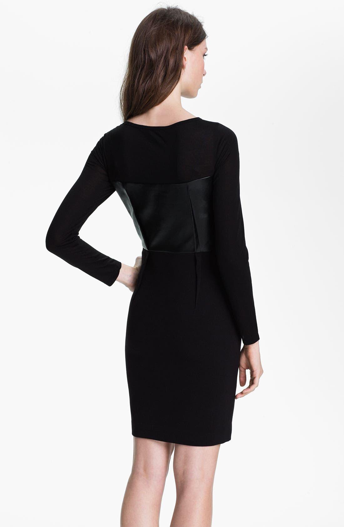 Alternate Image 2  - DKNYC Long Sleeve Mix Media Dress