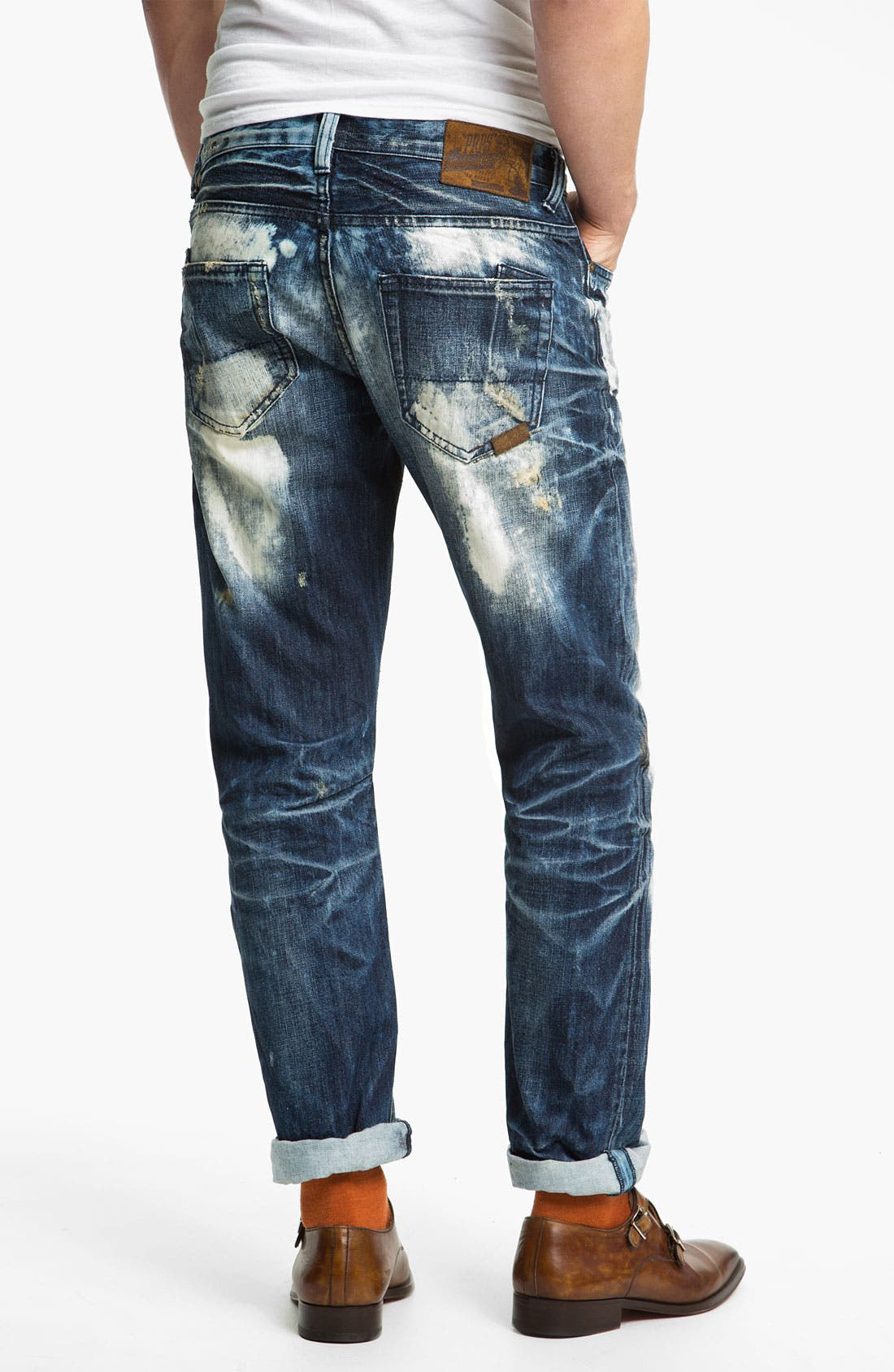 Alternate Image 1 Selected - PRPS 'Valley of Silence Barracuda' Straight Leg Jeans (Indigo)