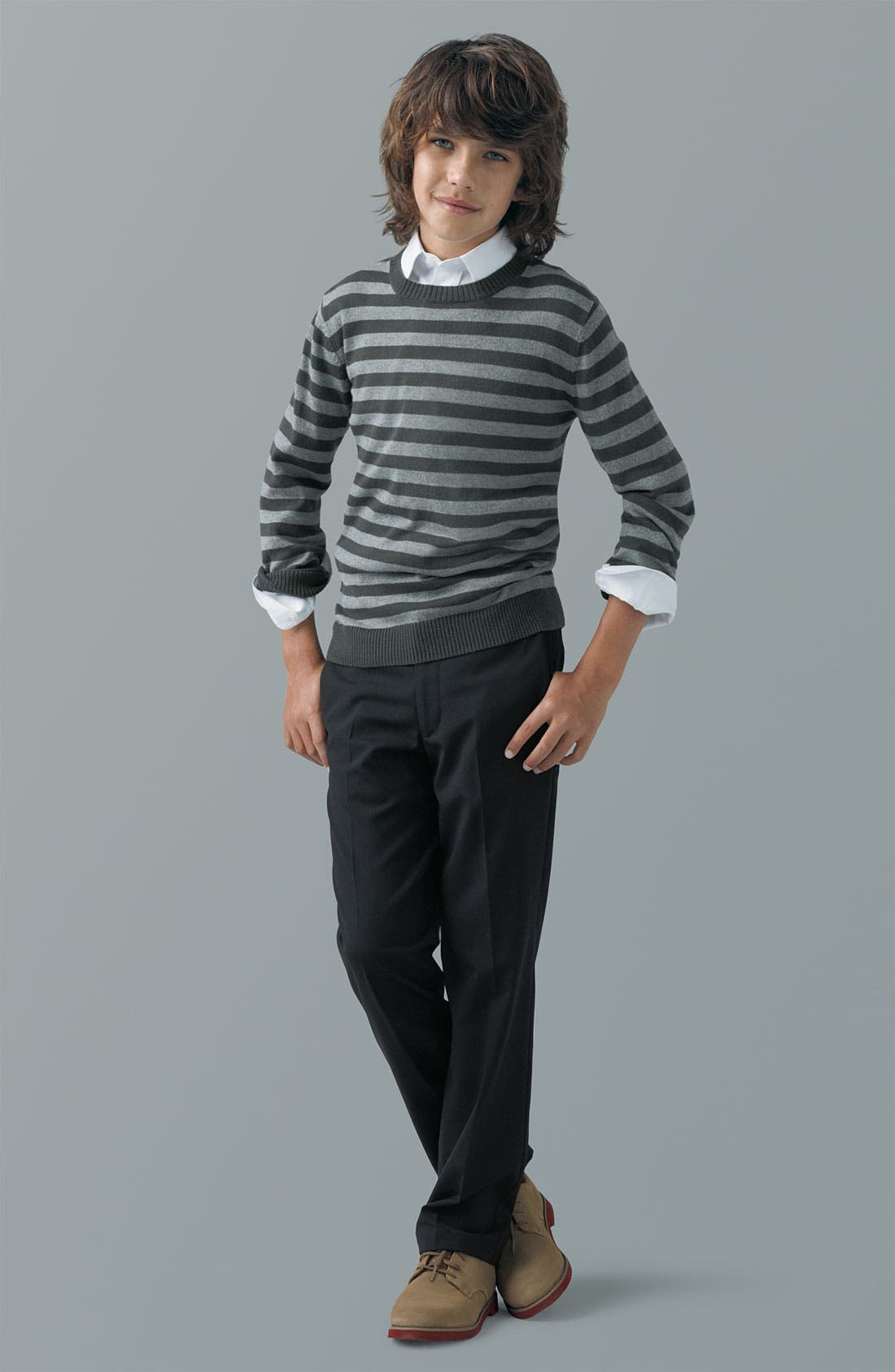 Alternate Image 1 Selected - Tucker + Tate Sweater, Nordstrom Shirt & Joseph Abboud Pants (Little Boys & Big Boys)