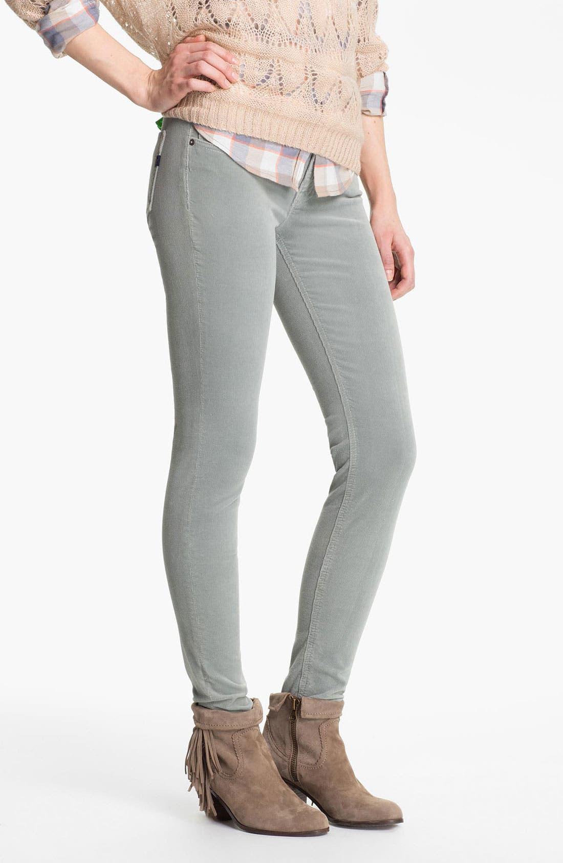 Main Image - Vigoss Skinny Stretch Corduroy Pants (Juniors)