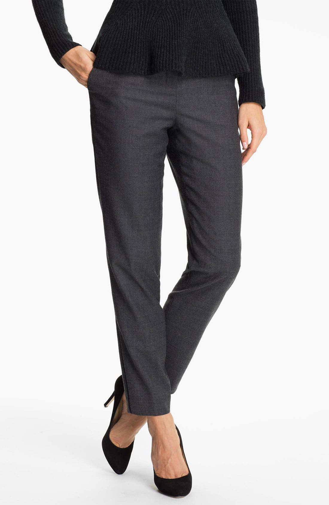 Alternate Image 1 Selected - Ted Baker London 'Rhit' Wool Blend Ankle Trousers