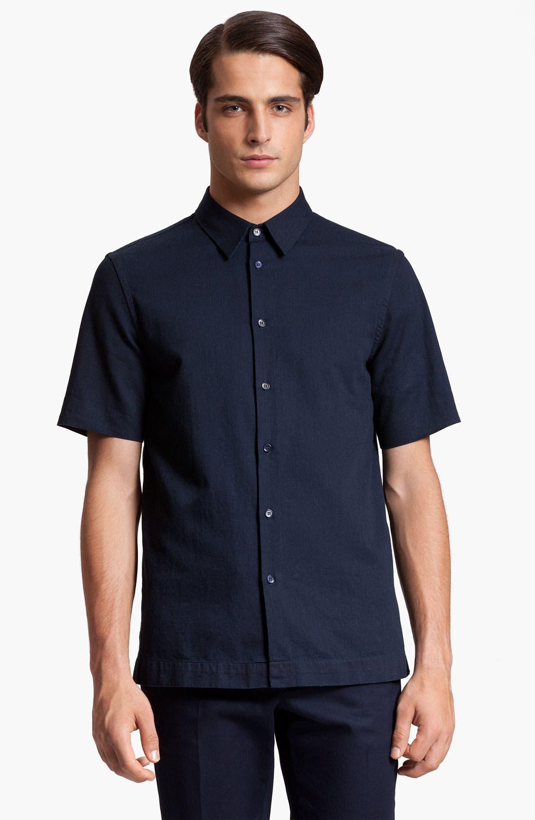 Alternate Image 1 Selected - Marni Short Sleeve Denim Shirt