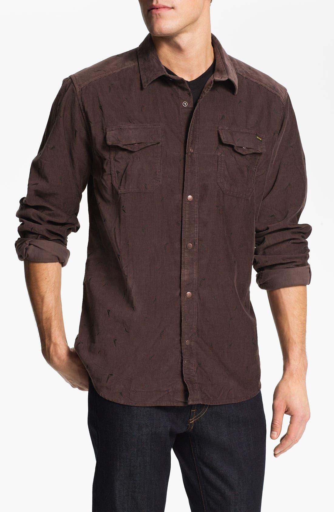 Alternate Image 1 Selected - Volcom 'Stacked' Corduroy Shirt