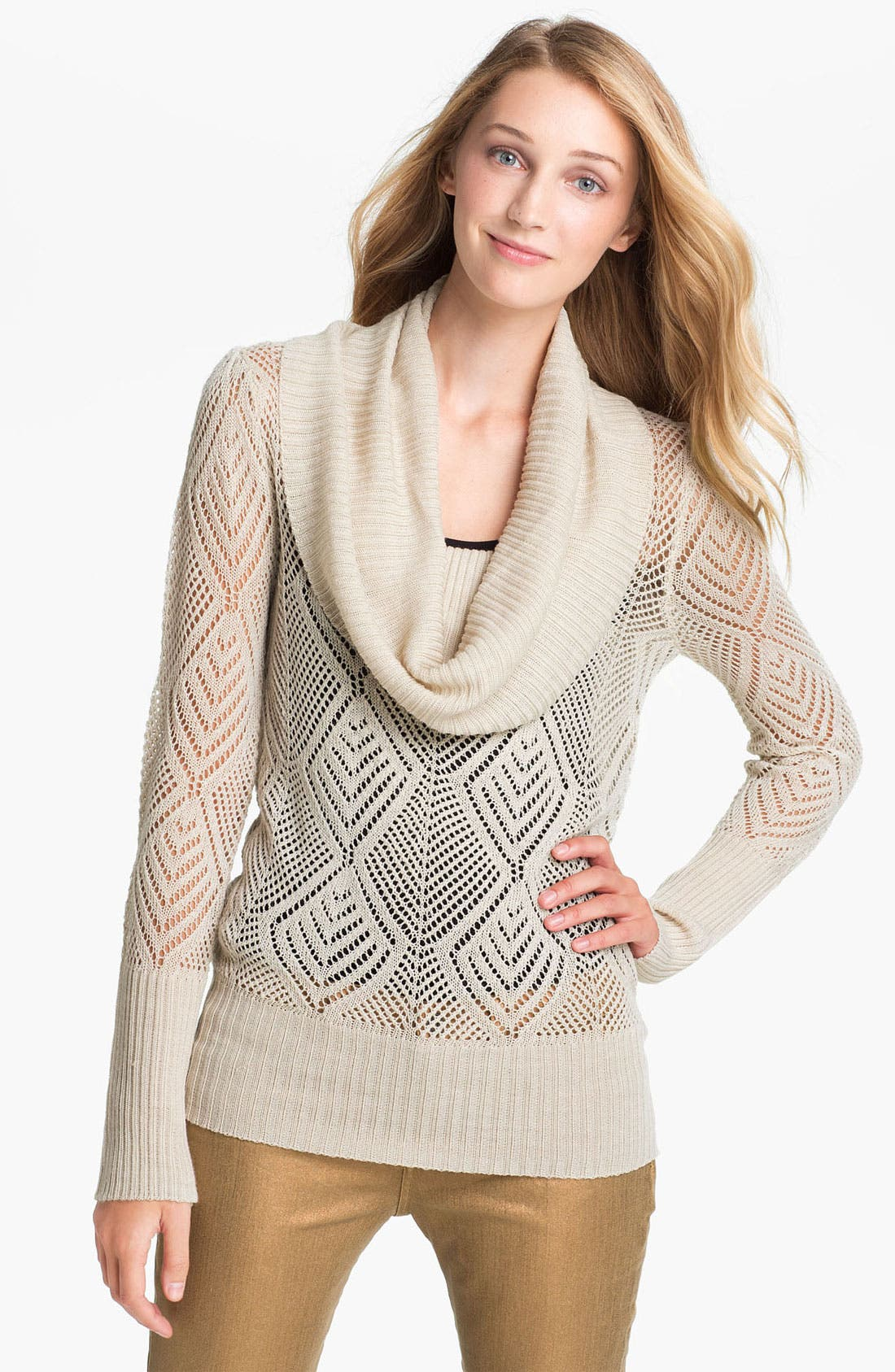 Alternate Image 1 Selected - Lucky Brand 'Paula' Cowl Neck Sweater