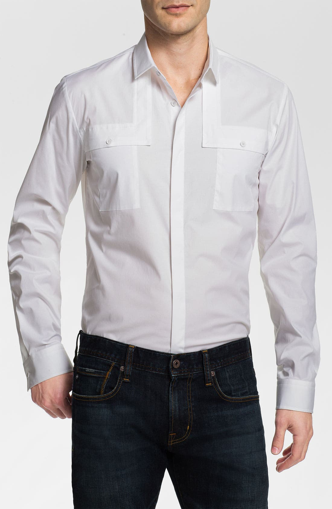 Alternate Image 1 Selected - HUGO 'Eleo' Slim Fit Sport Shirt
