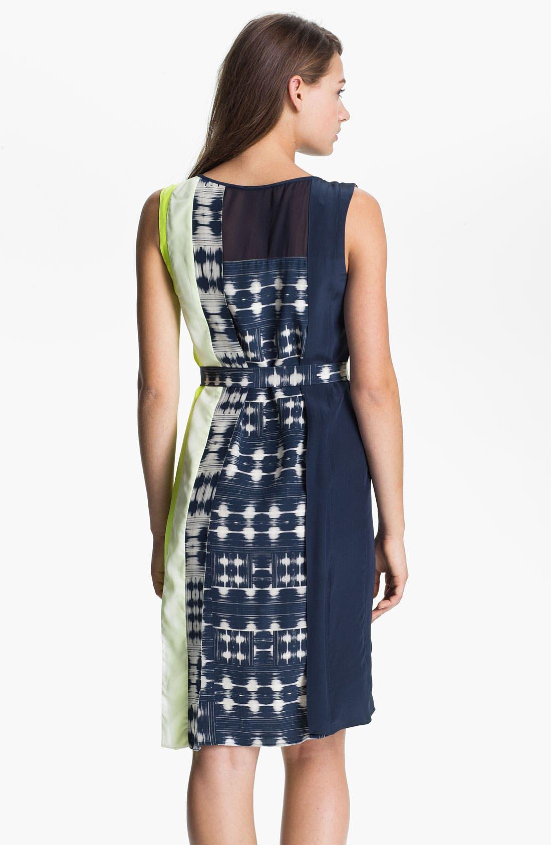 Alternate Image 2  - BCBGMAXAZRIA Sleeveless Print Silk Dress