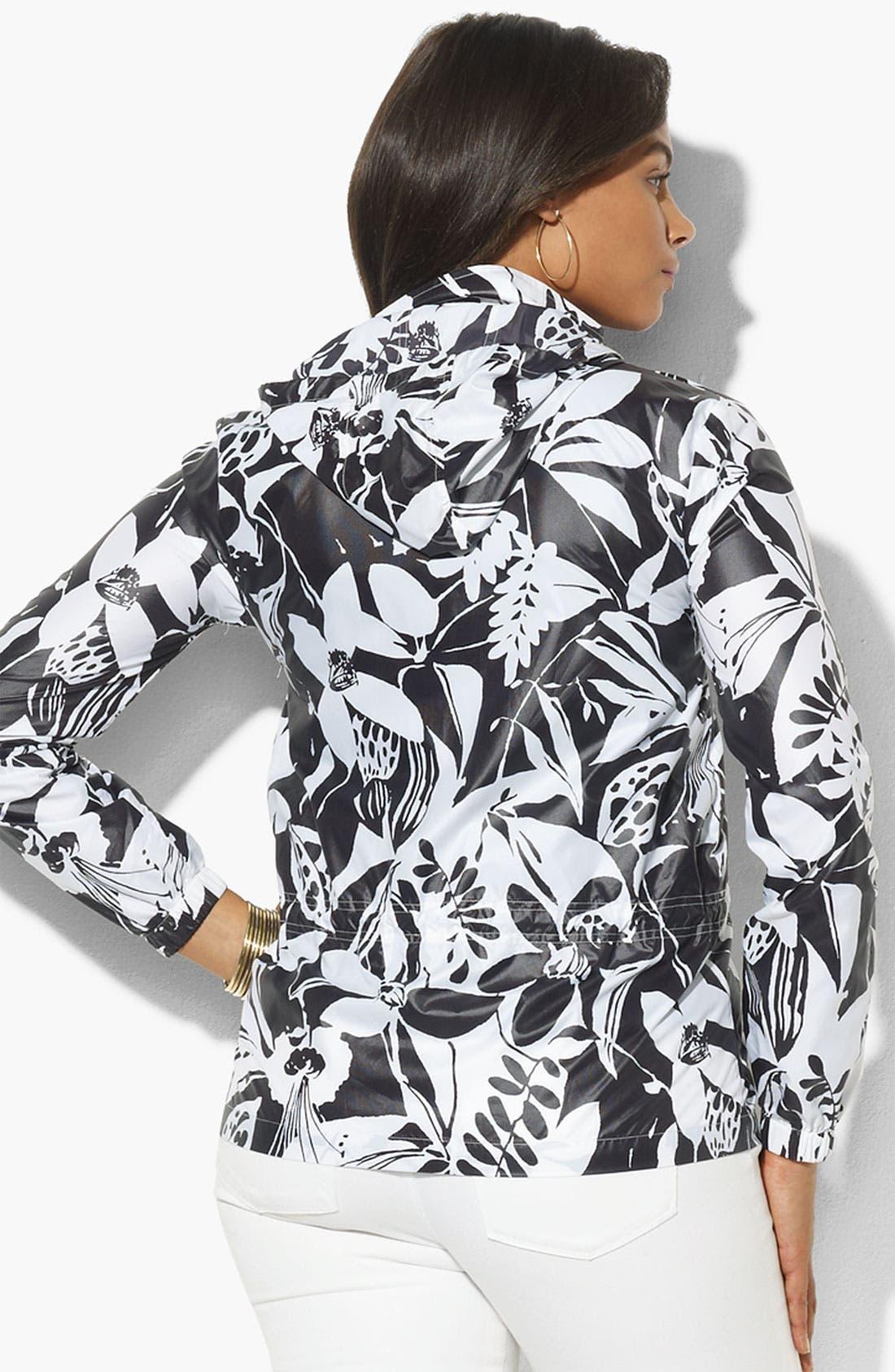 Alternate Image 2  - Lauren Ralph Lauren Zip Front Hooded Jacket (Plus)
