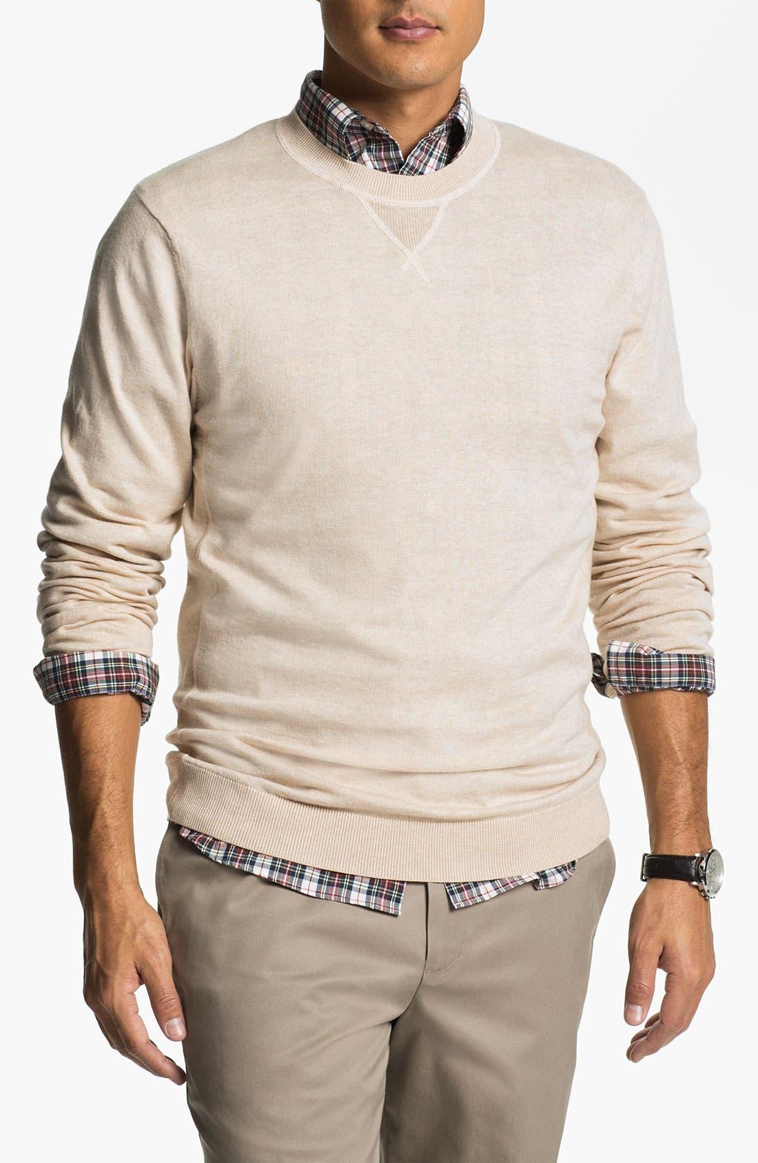 Main Image - Wallin & Bros. Pima Cotton Blend Sweater