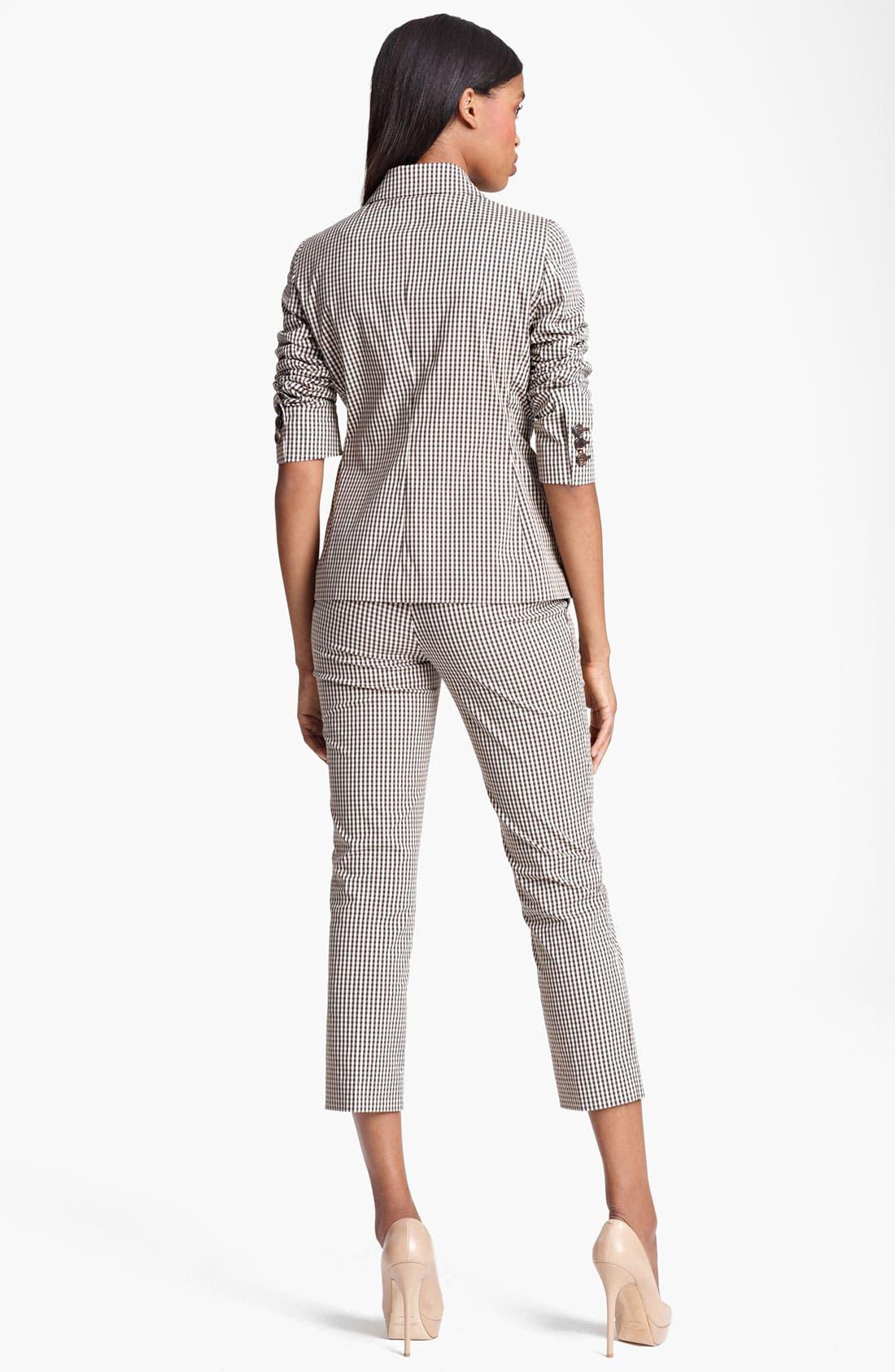 Alternate Image 2  - Moschino Cheap & Chic Gingham Crop Pants