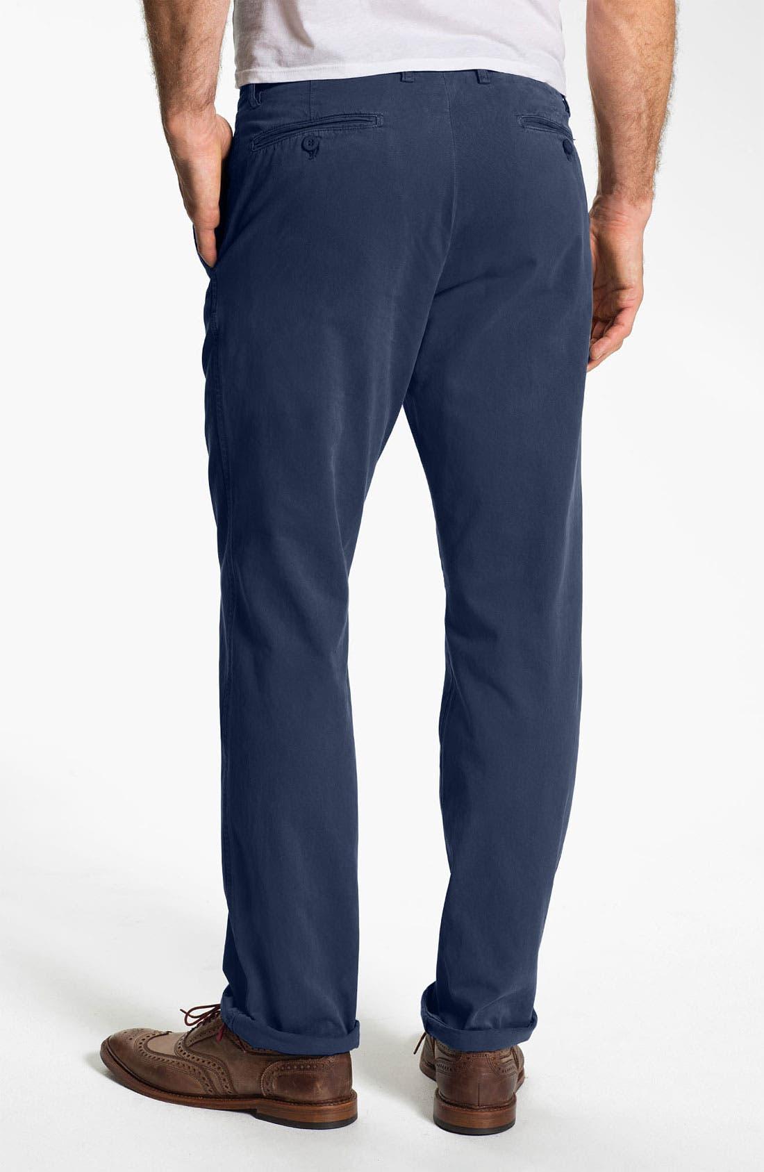 Alternate Image 2  - Khaki Surplus Straight Leg Washed Cotton Twill Chinos (Online Only)