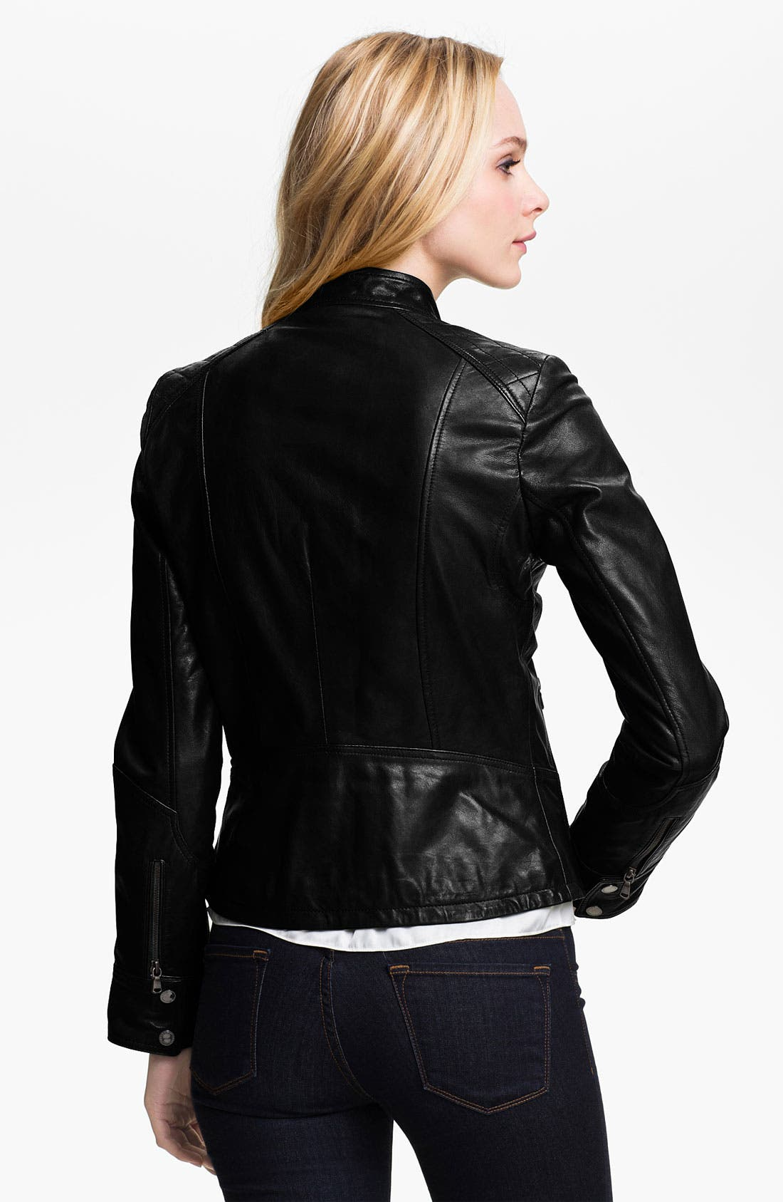 Alternate Image 2  - Bod & Christensen Leather Moto Jacket