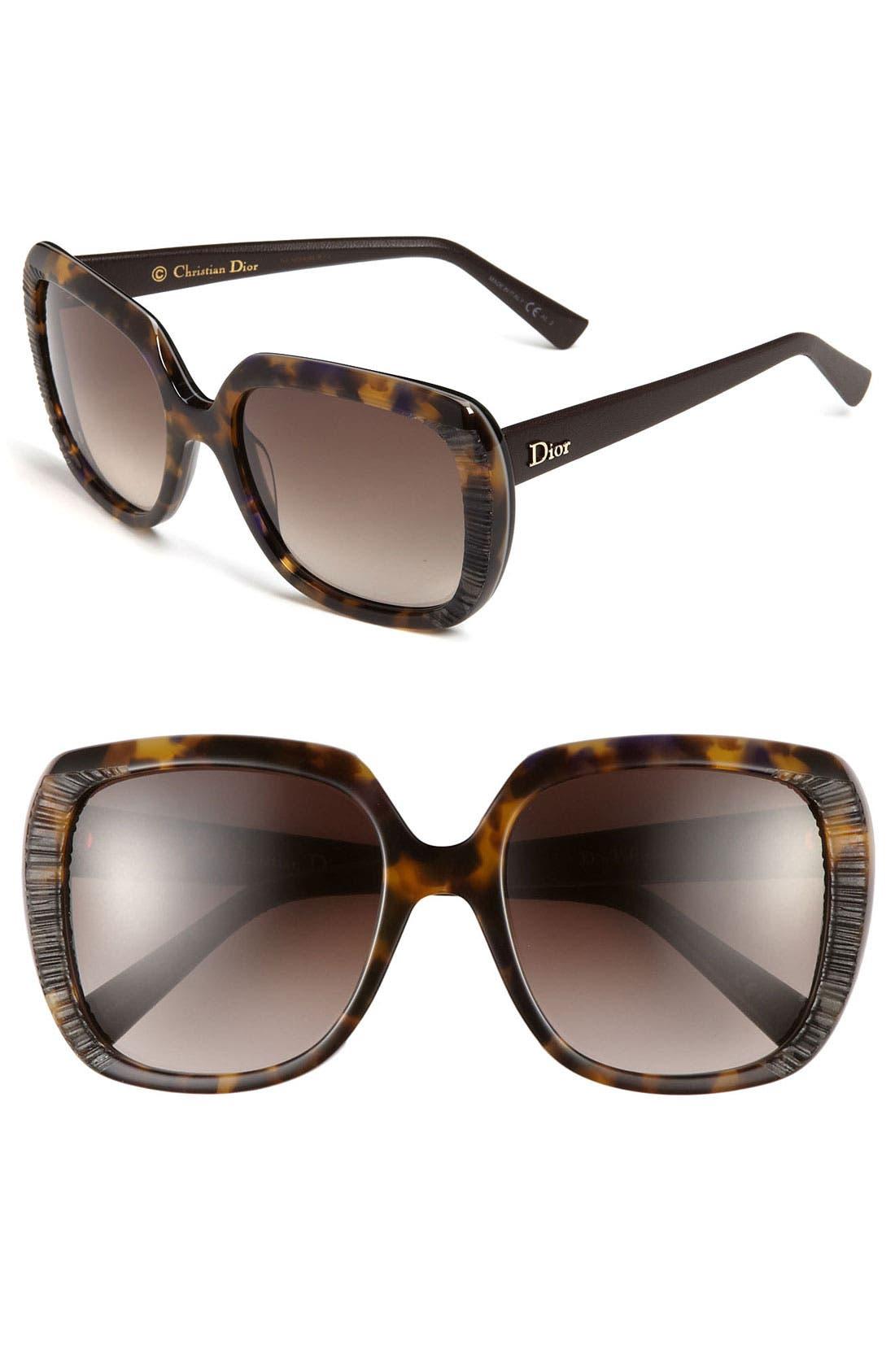 Main Image - Dior 'Taffetas' 59mm Sunglasses