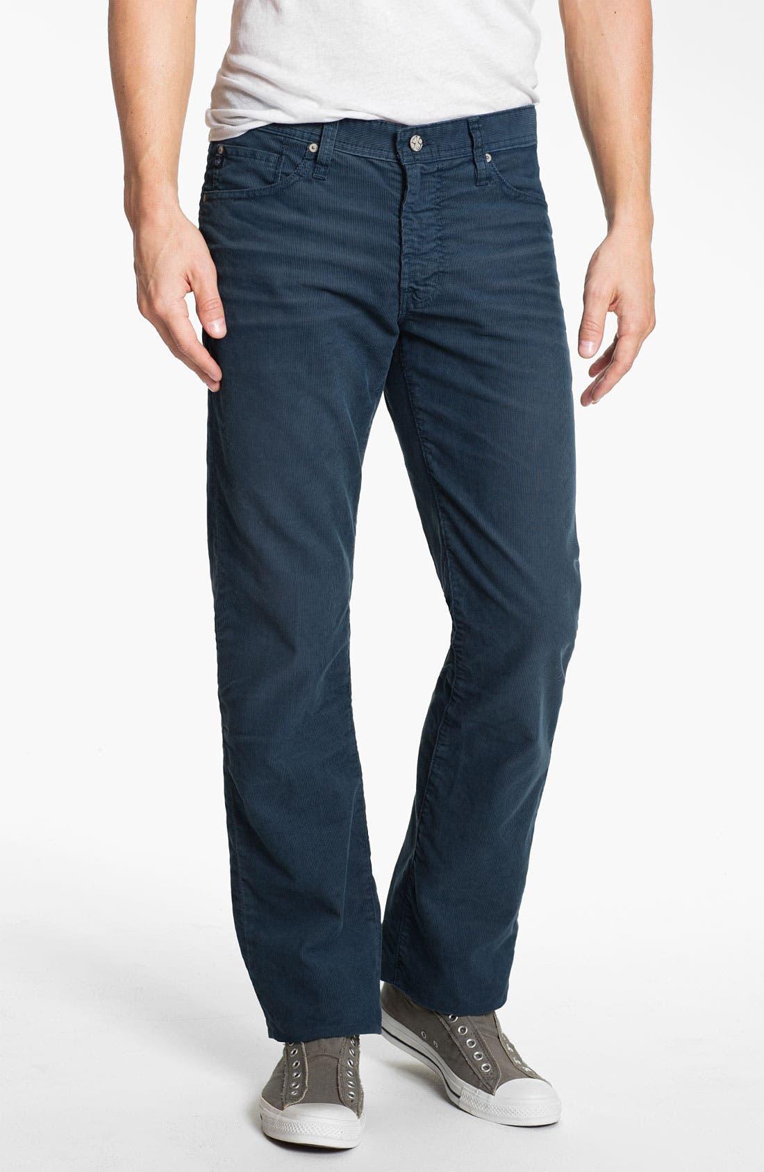 Alternate Image 1 Selected - AG Jeans Straight Leg Corduroy Pants