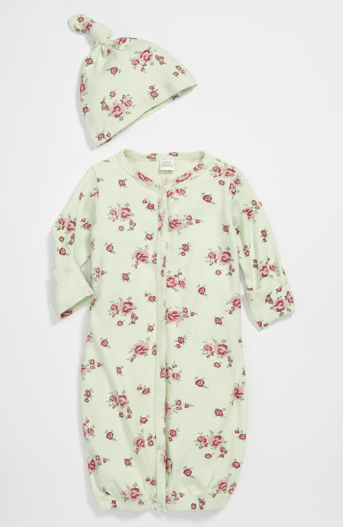 Alternate Image 1 Selected - Nordstrom Baby Convertible Gown & Hat (Baby)
