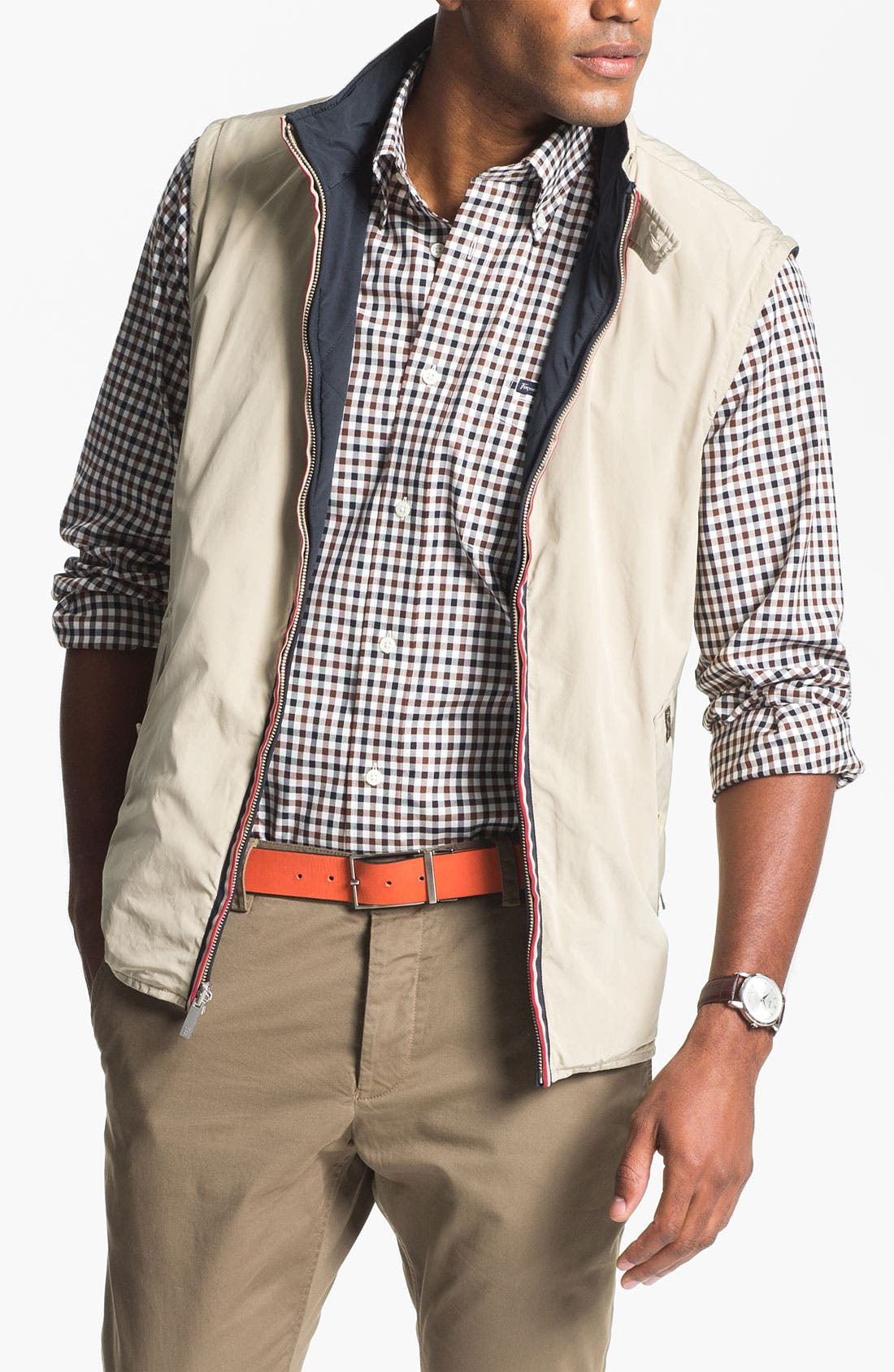 Alternate Image 1 Selected - Façonnable Reversible Quilted Vest