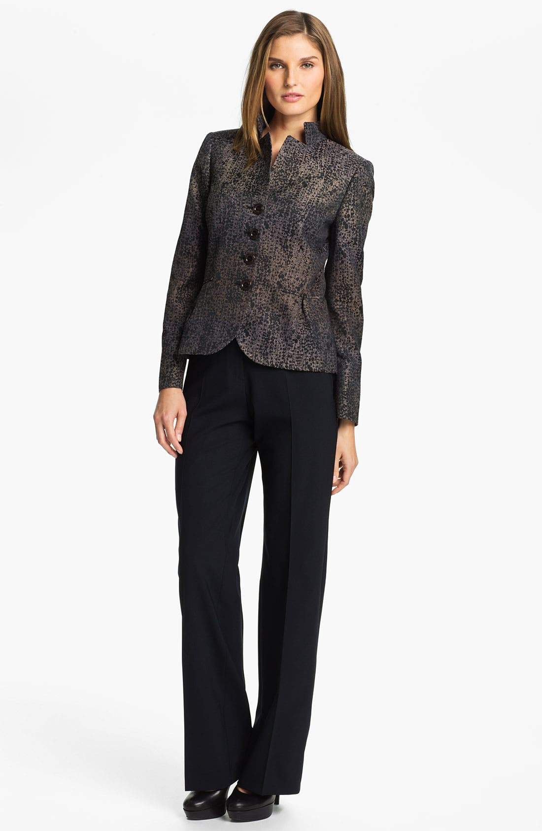 Alternate Image 6  - Santorelli 'Gina' Straight Leg Wool Trousers