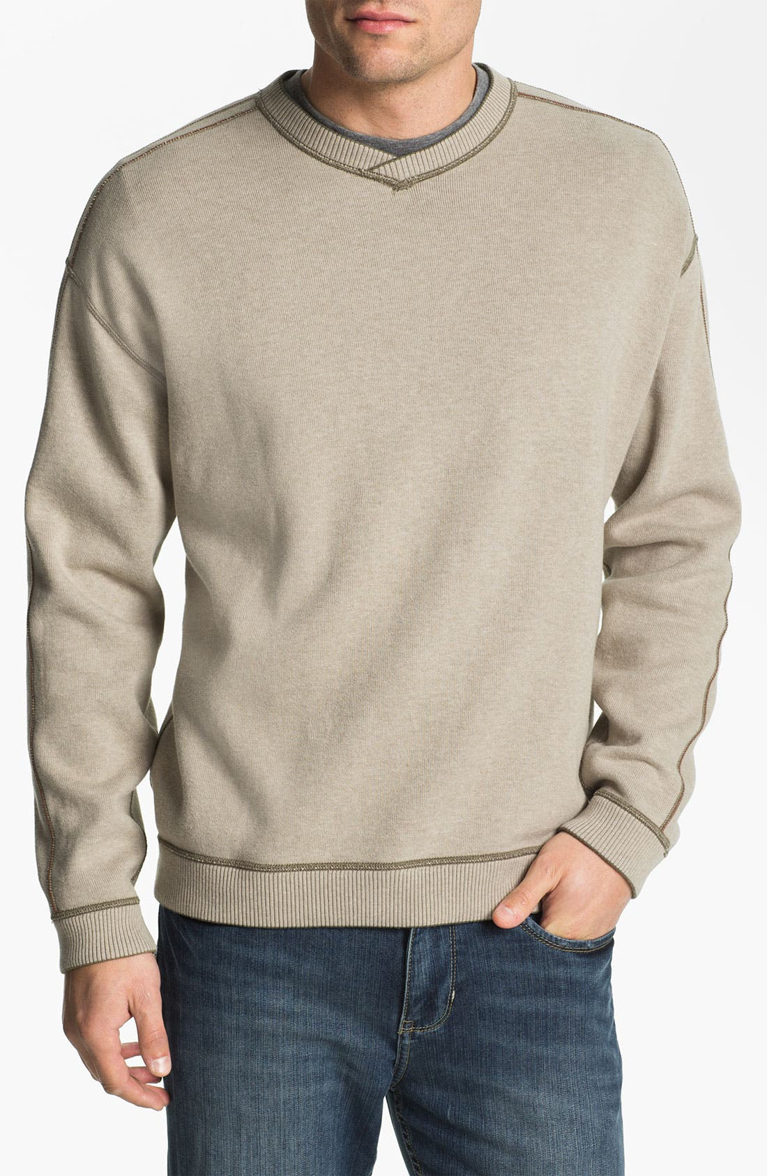 Alternate Image 2  - Tommy Bahama 'Flip Side Pro' Fleece V-Neck Sweatshirt (Big & Tall)