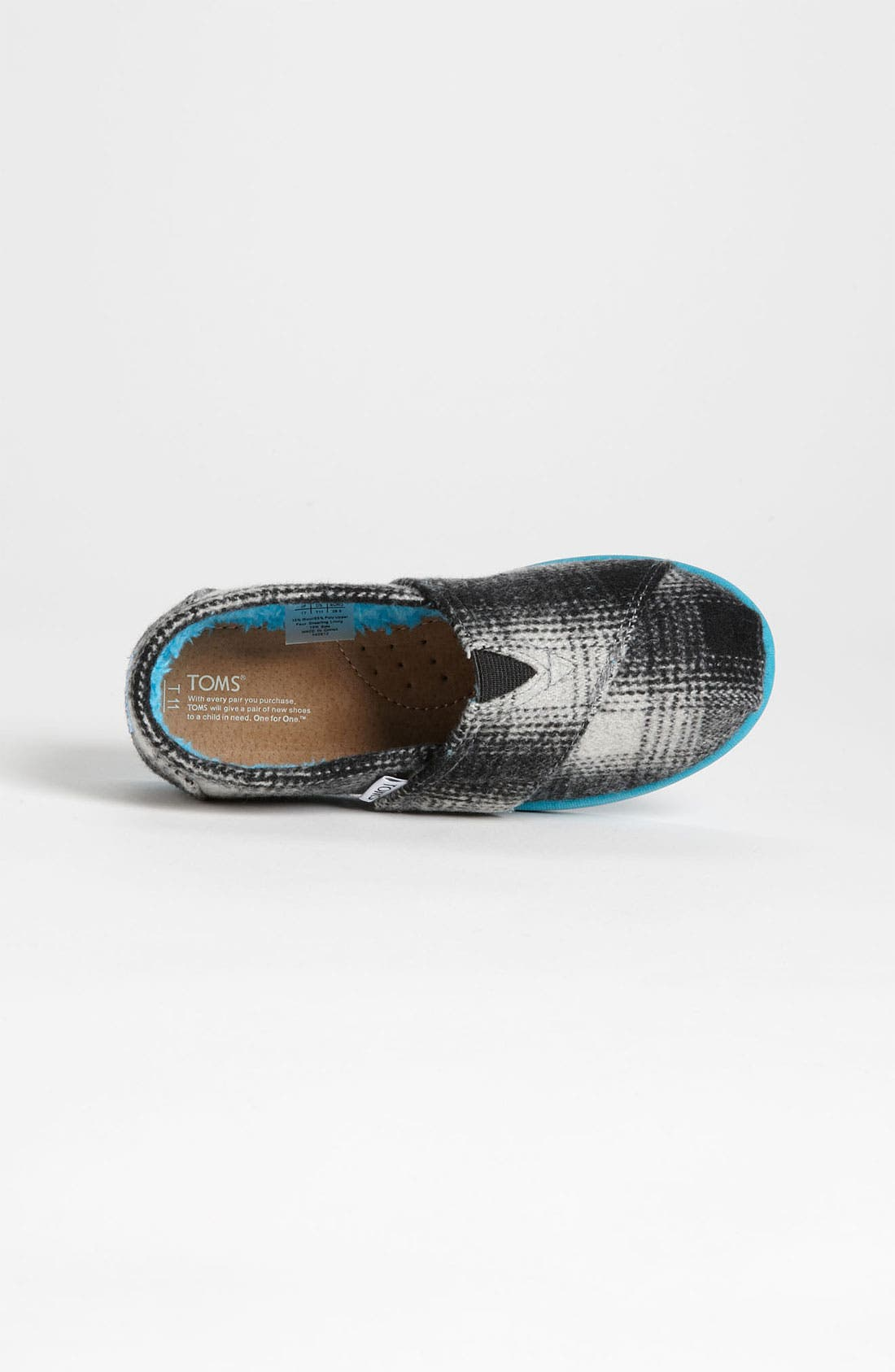 Alternate Image 3  - TOMS 'Classic Tiny - Plaid Pop' Wool Slip-On (Baby, Walker & Toddler)