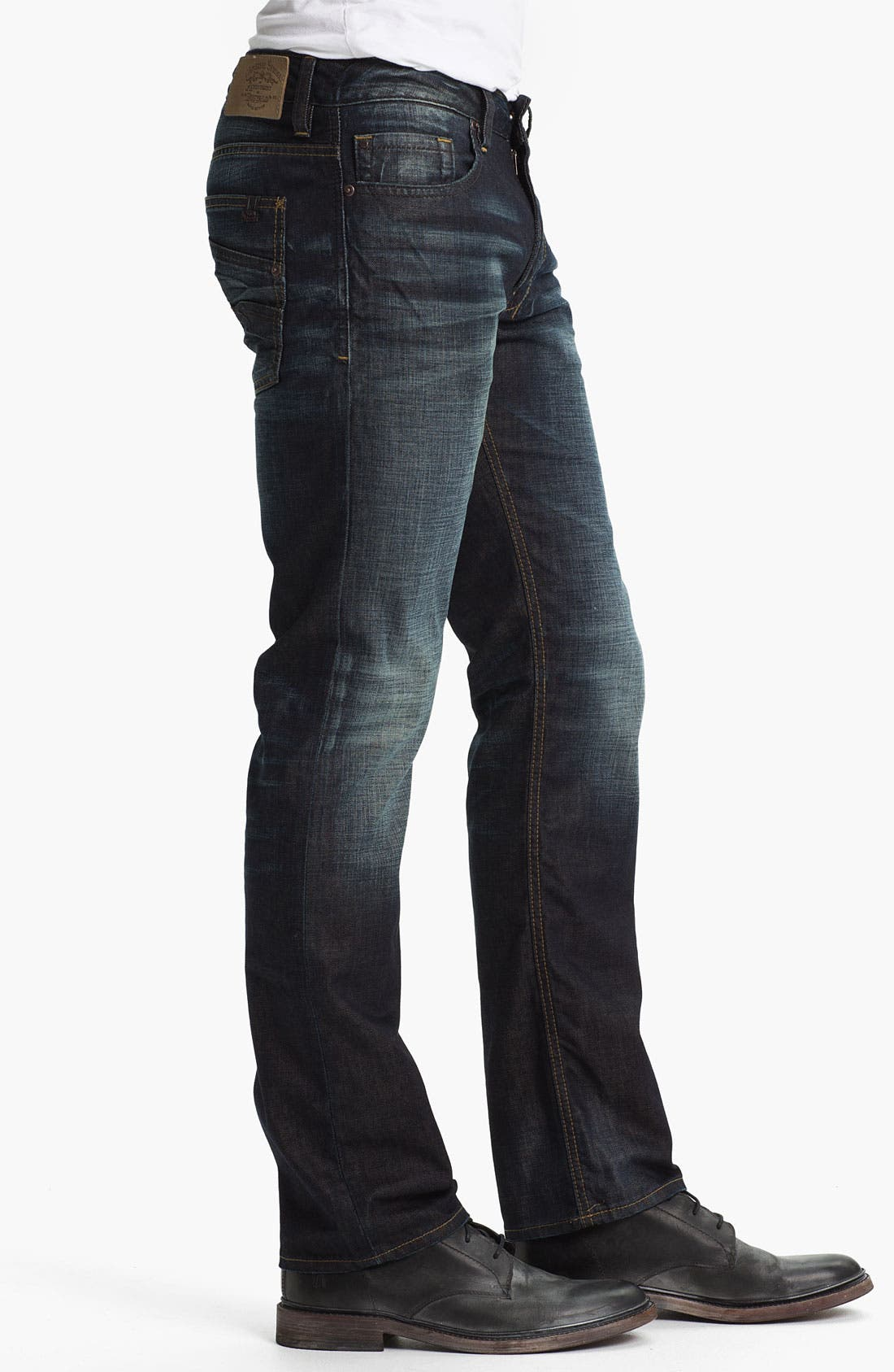 Alternate Image 3  - Buffalo Jeans 'Six' Slim Straight Leg Jeans (Veined/Dirty) (Online Exclusive)
