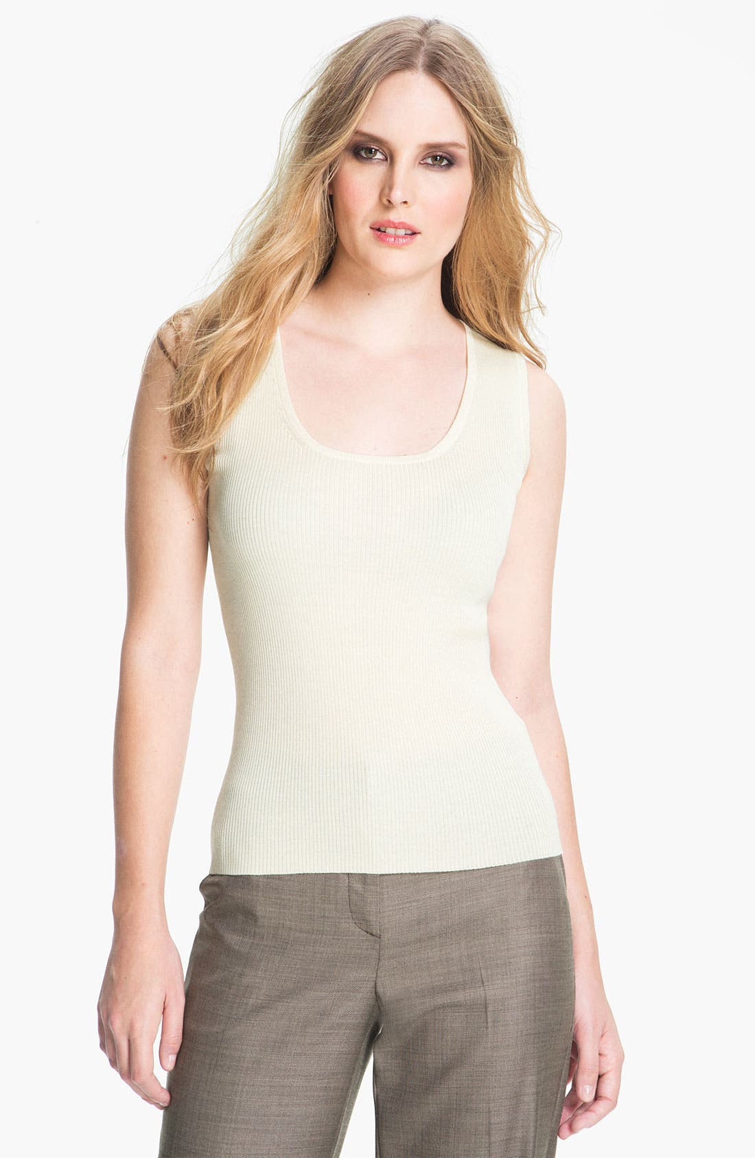 Alternate Image 1 Selected - St. John Collection Rib Knit Shell