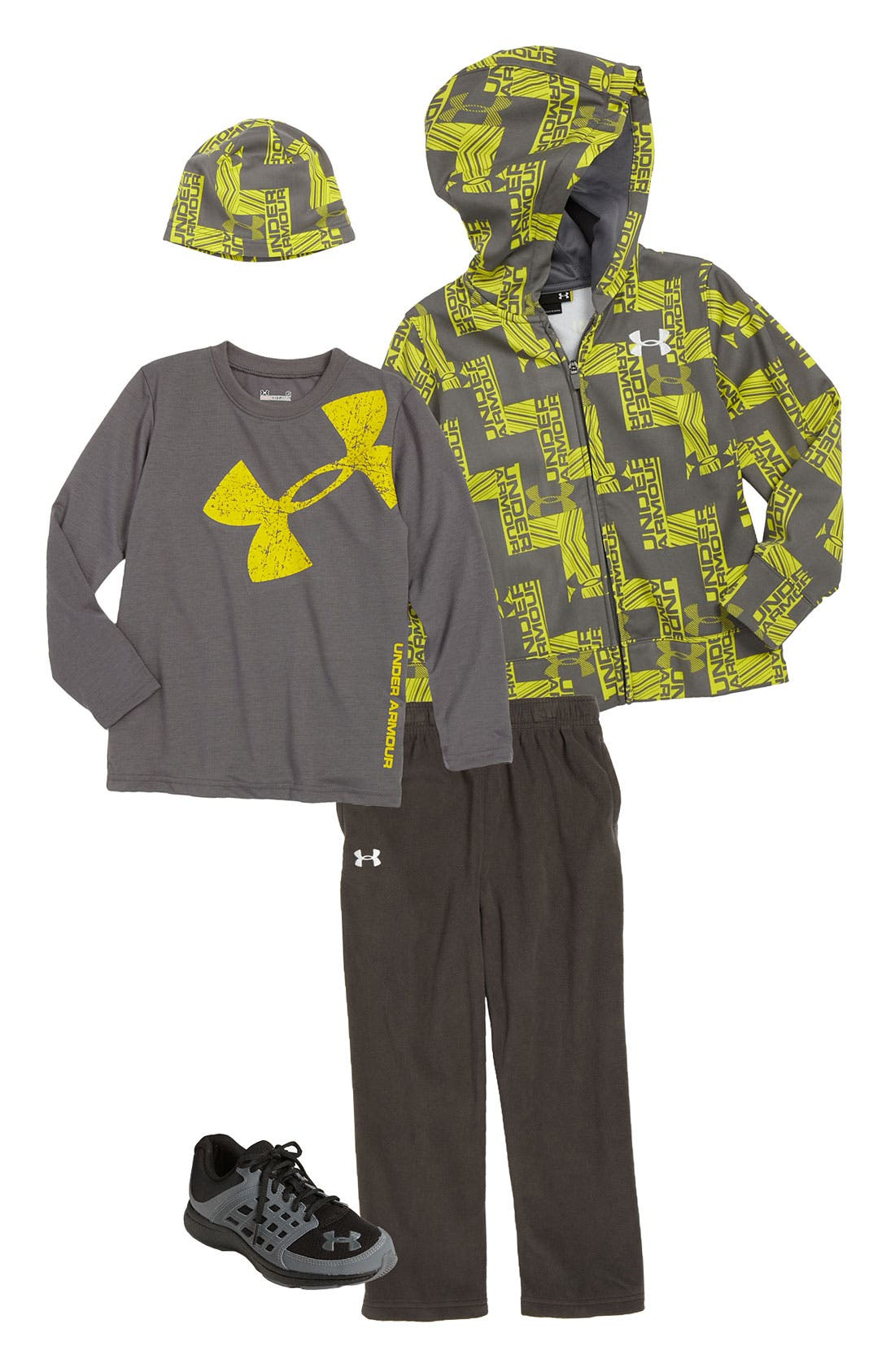 Alternate Image 1 Selected - Under Armour Color Changing Hoodie & Pants (Little Boys)
