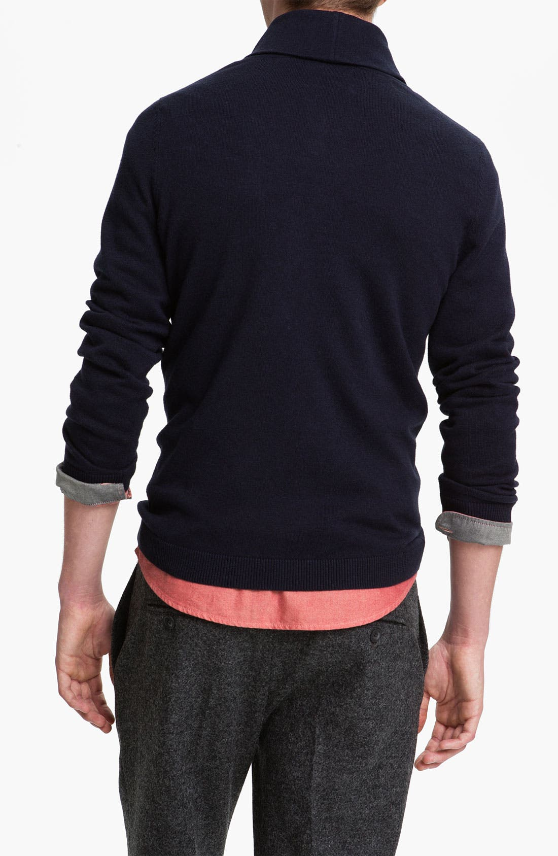 Alternate Image 2  - Topman Shawl Collar Sweater