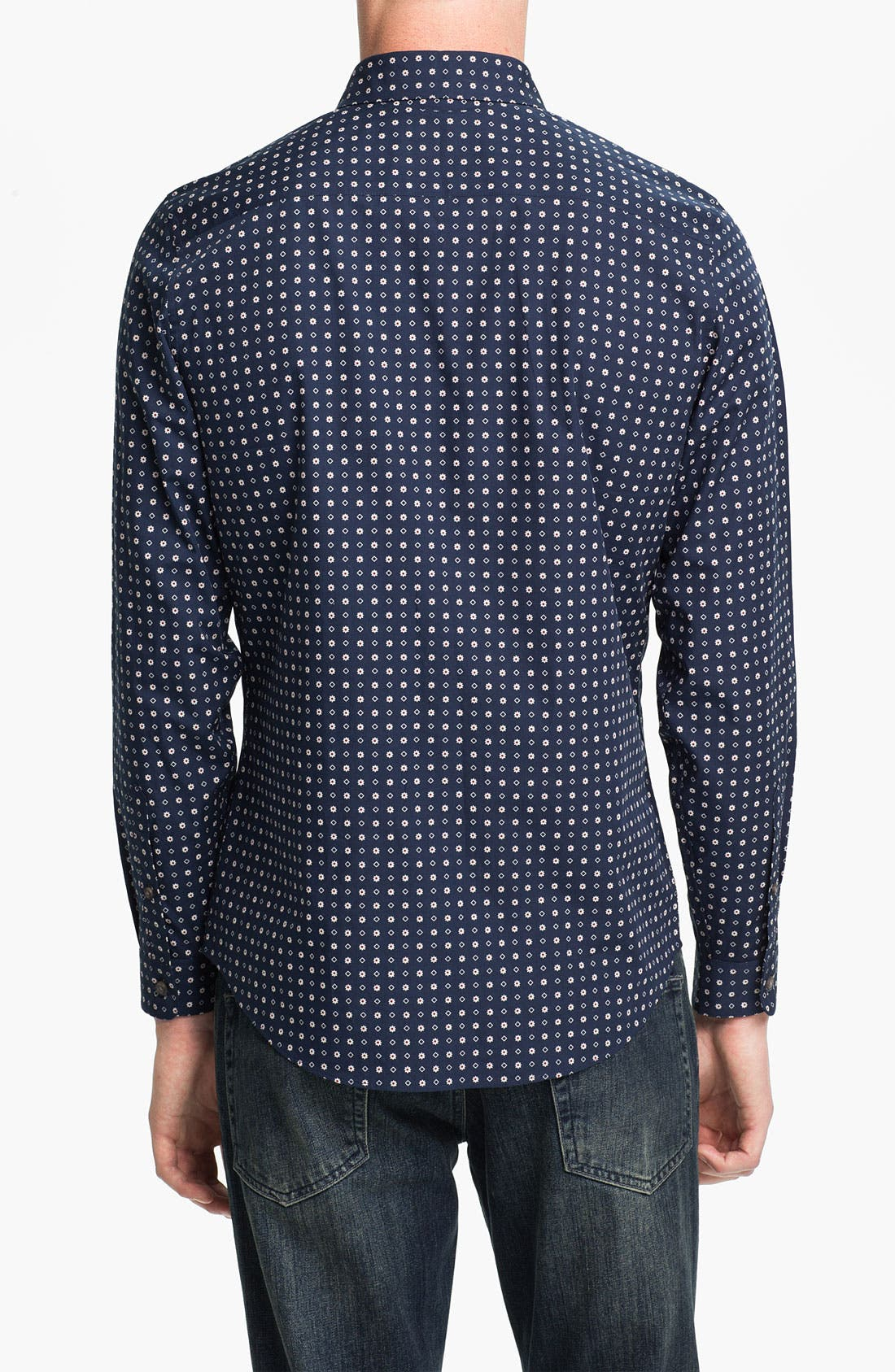 Alternate Image 2  - Topman Floral Print Slim Fit Dress Shirt