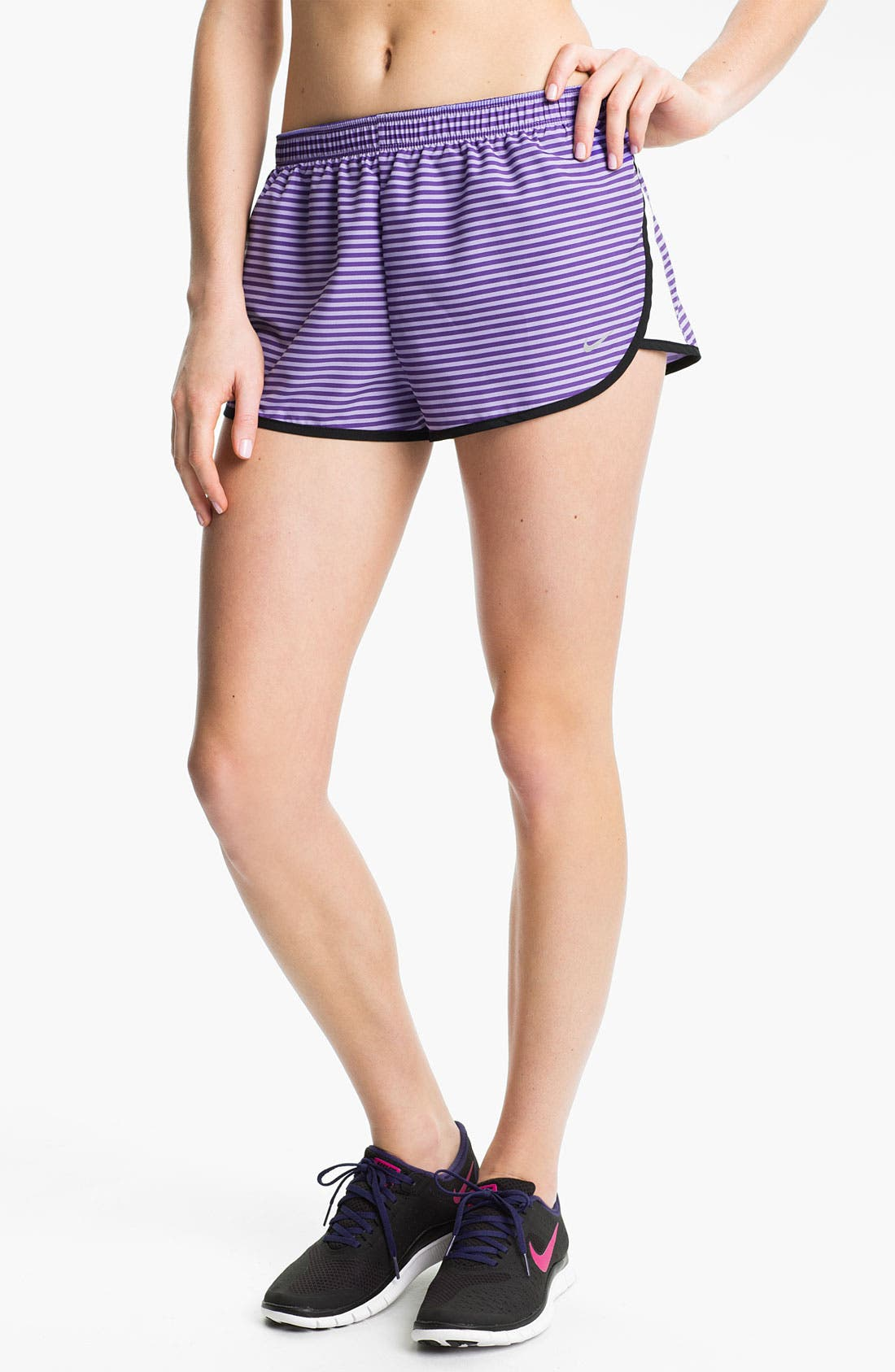 Alternate Image 1 Selected - Nike 'Road Race' Stripe Running Shorts