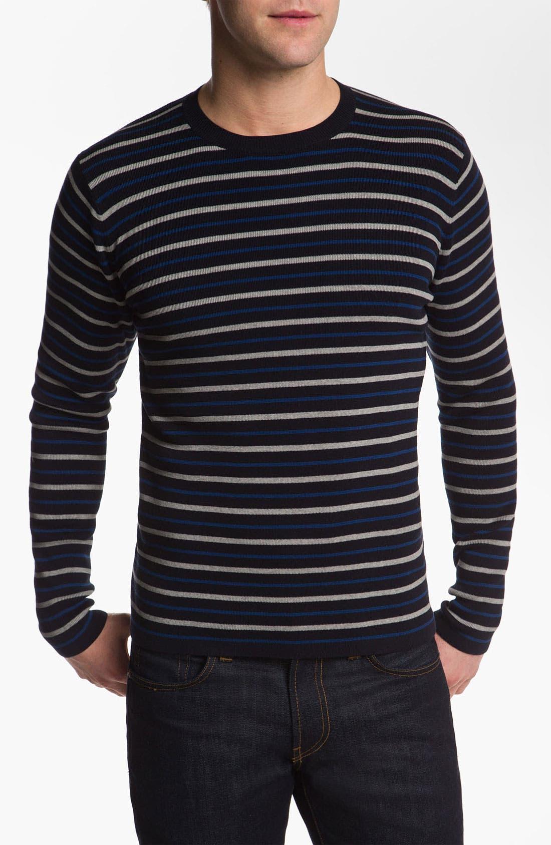 Main Image - Vince Stripe Crewneck Sweater