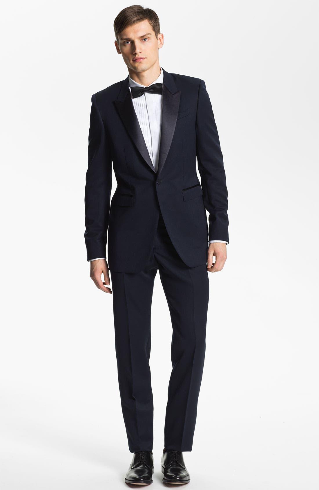 Alternate Image 4  - Burberry Prorsum Wool Tuxedo Pants