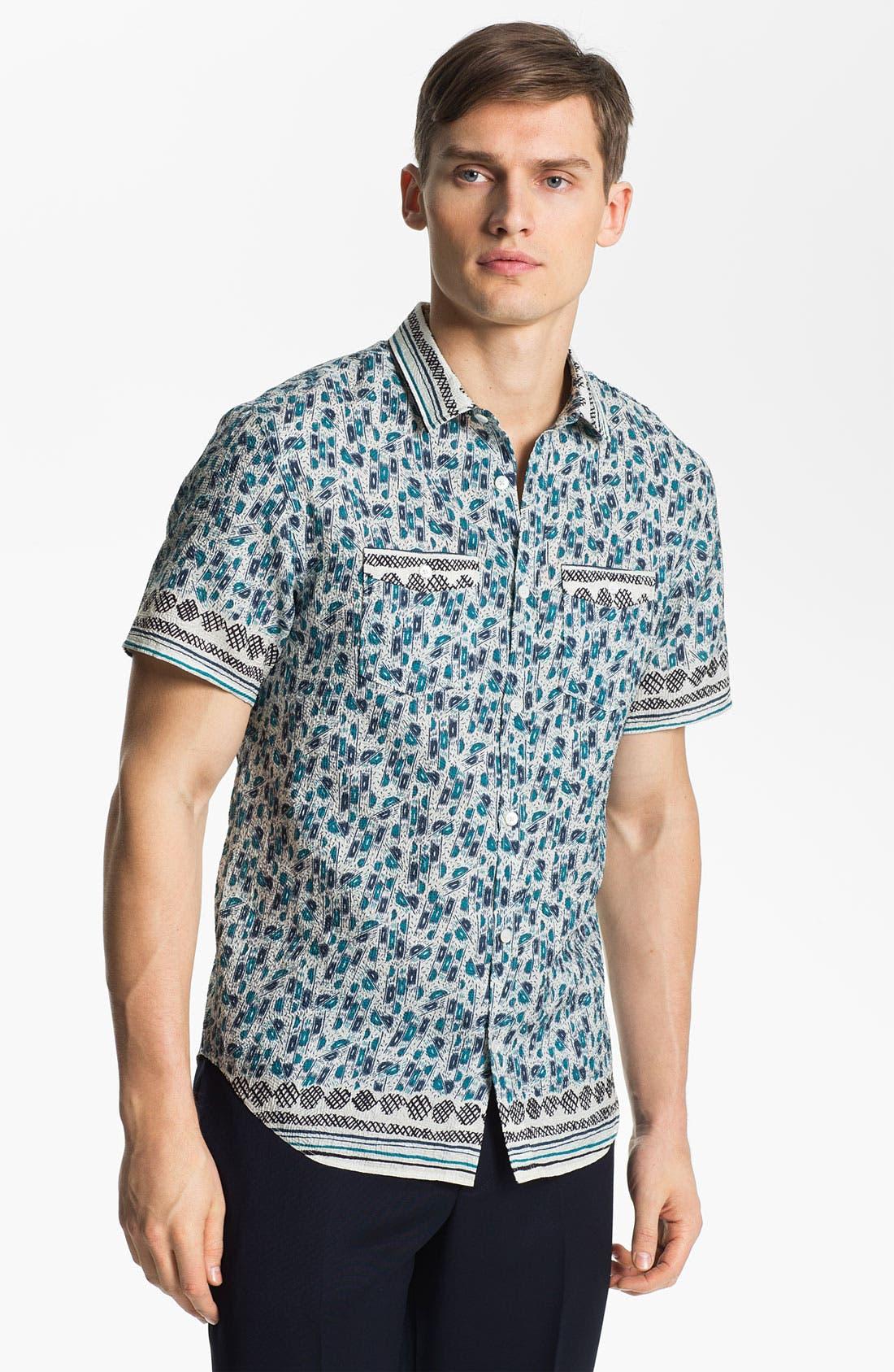 Main Image - Burberry Prorsum Crinkled Print Shirt