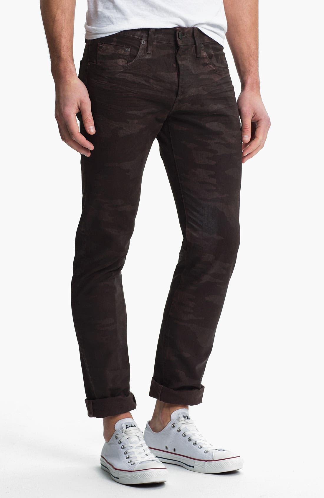 Alternate Image 2  - J Brand 'Tyler' Slim Straight Leg Jeans (Coated Wood Camo)