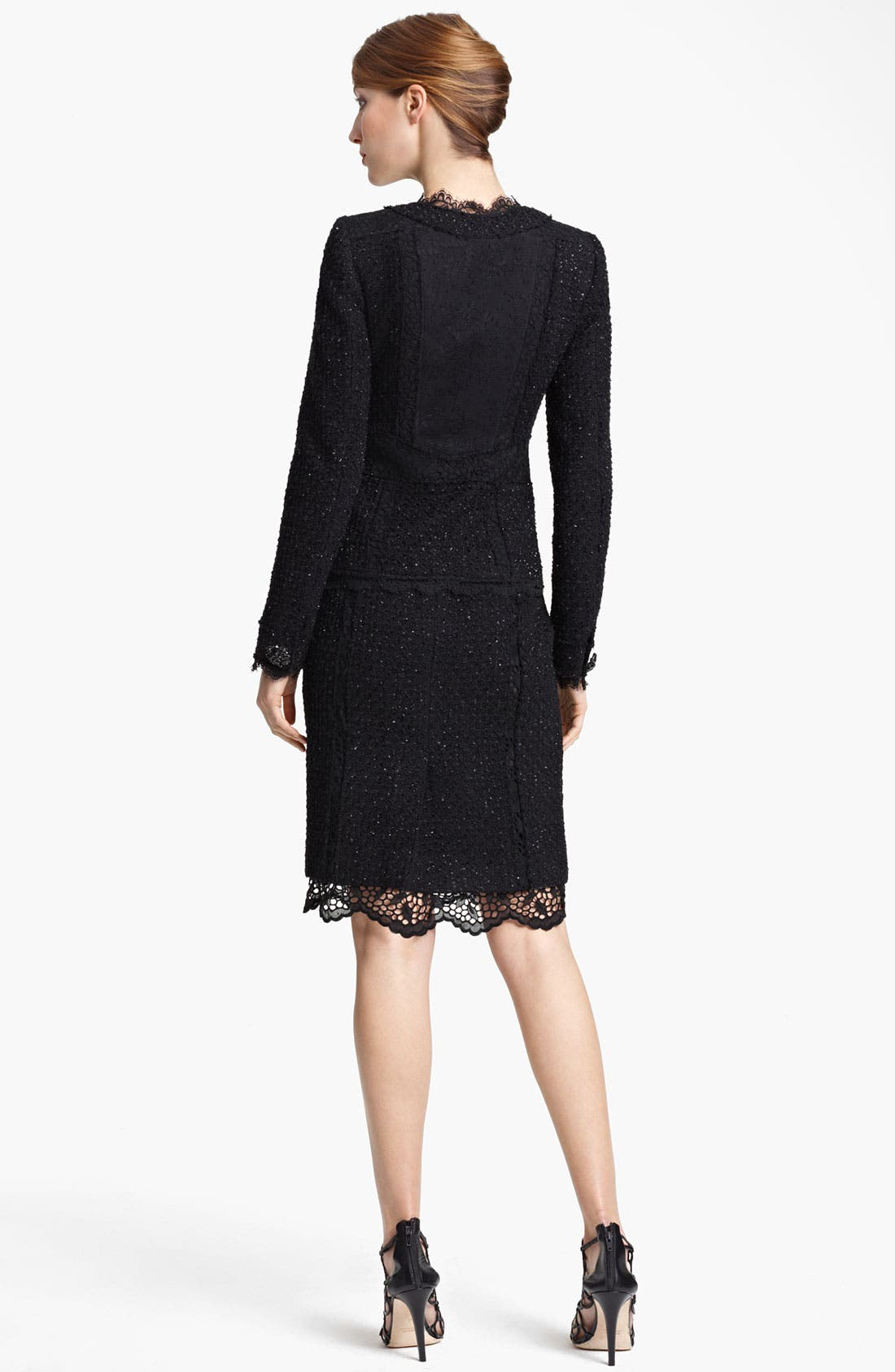 Alternate Image 4  - Oscar de la Renta Lace & Tweed Jacket