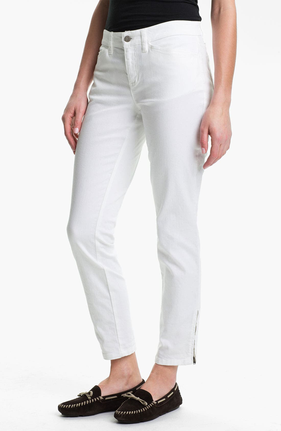 Alternate Image 1 Selected - Eileen Fisher Slim Leg Crop Pants (Online Exclusive)