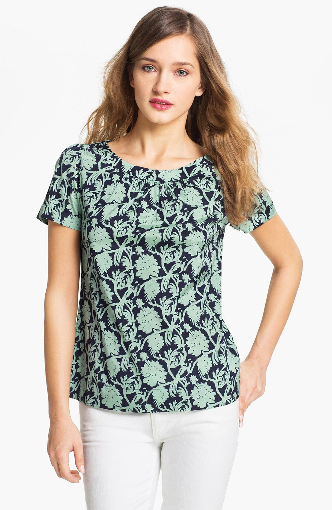 Alternate Image 1 Selected - Tory Burch 'Maddie' Stretch Silk Top