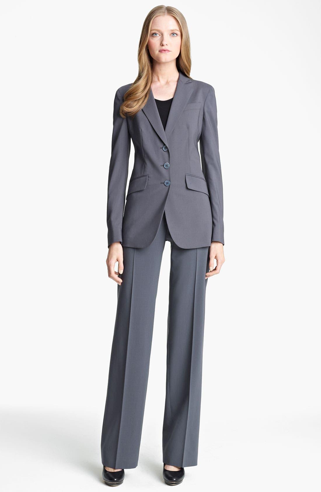 Alternate Image 4  - Armani Collezioni Stretch Wool Pants