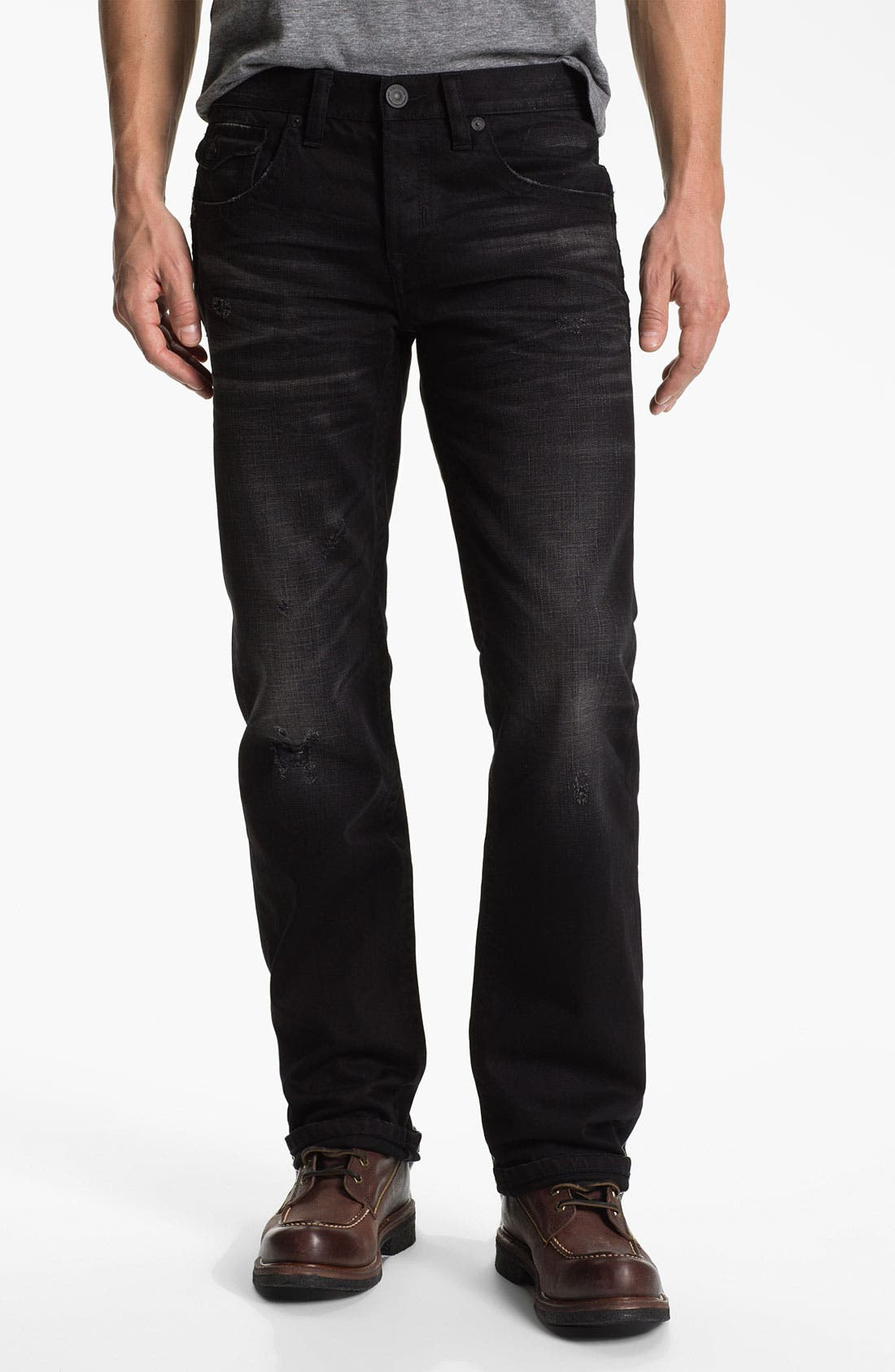 Alternate Image 2  - MEK Denim 'Riley' Straight Leg Jeans (Miner Black)