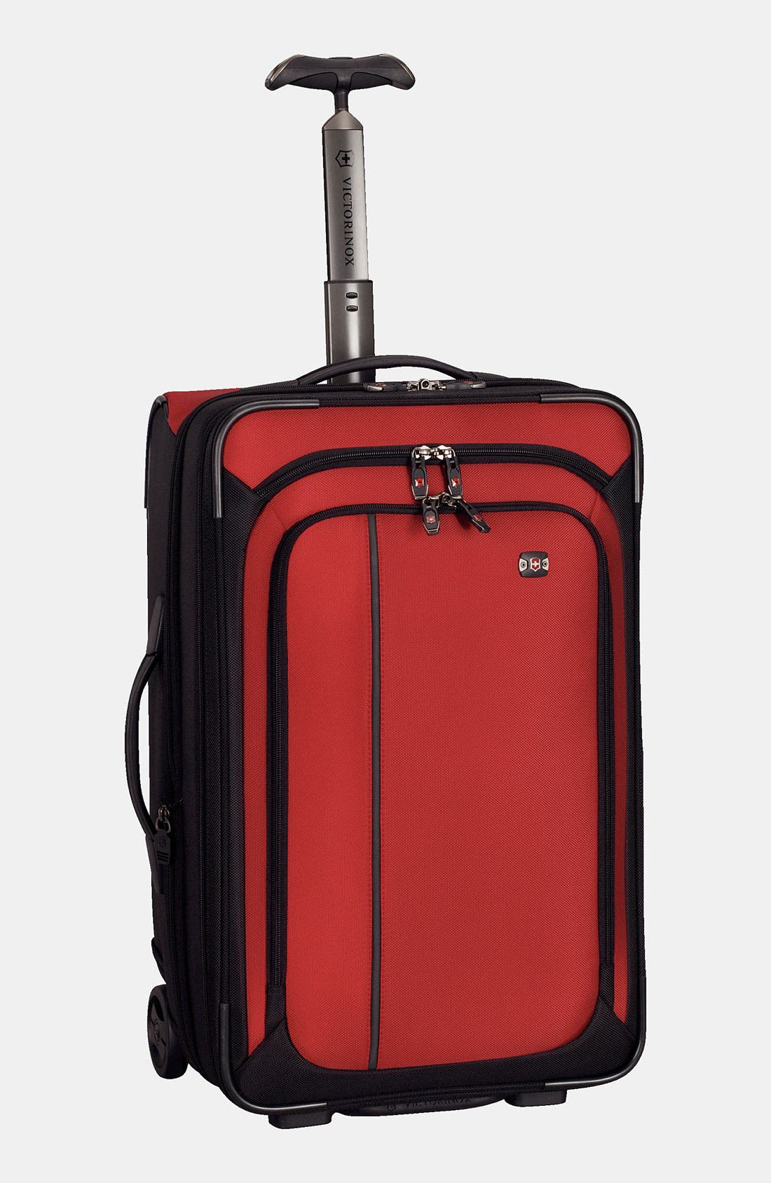 'Werks - Traveler' Rolling Carry-On,                             Main thumbnail 1, color,                             Red/ Black