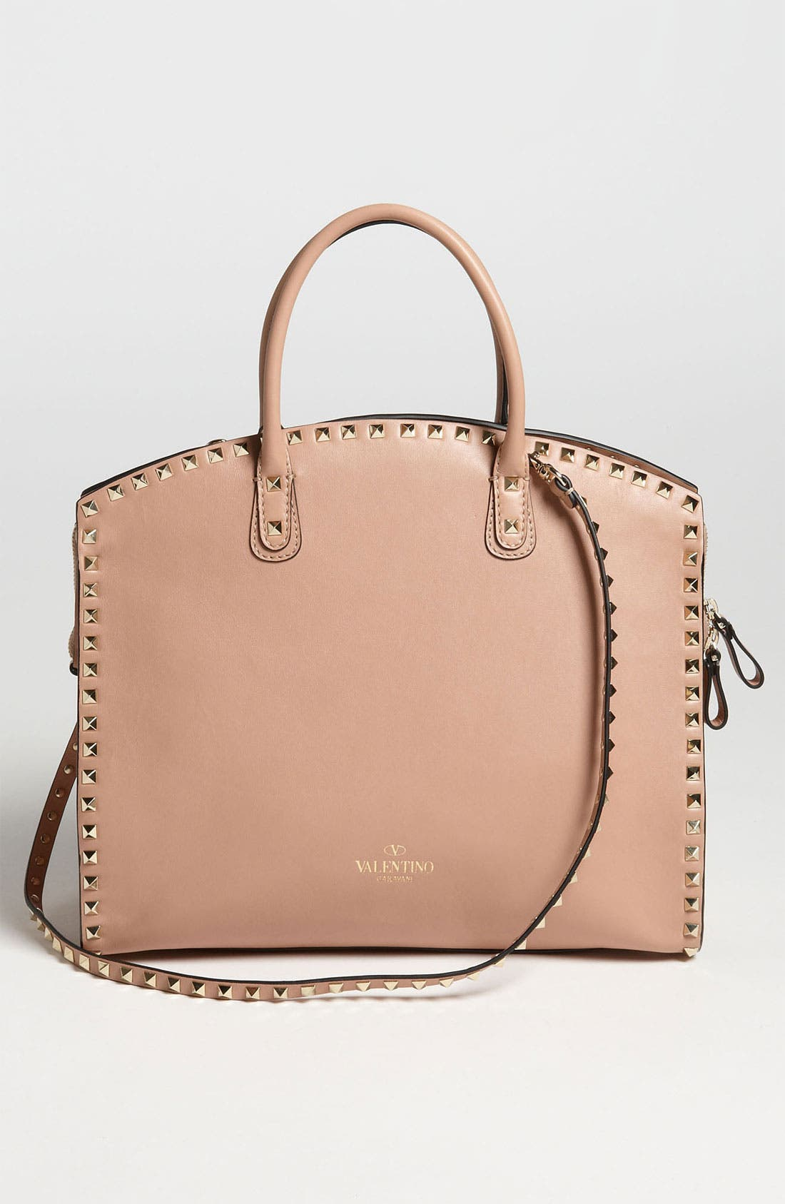 Alternate Image 4  - Valentino 'Rockstud' Leather Dome Satchel