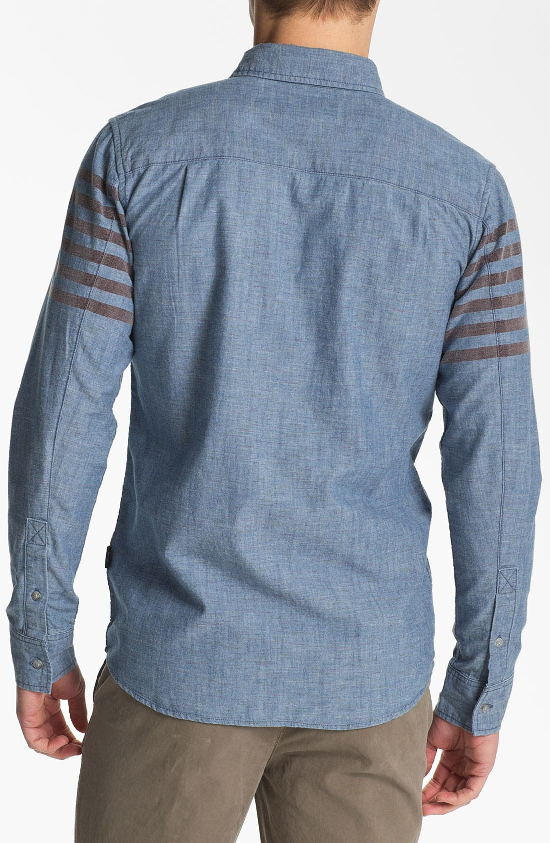 Alternate Image 2  - 55DSL Stripe Print Denim Cotton Shirt