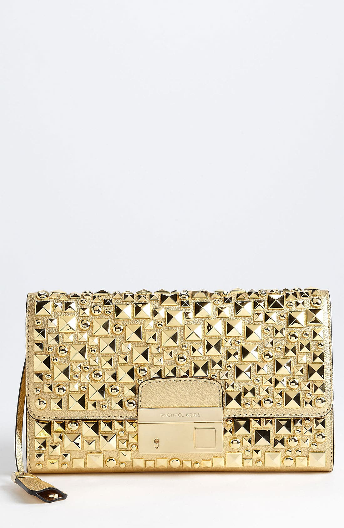 Main Image - Michael Kors 'Gia' Studded Leather Clutch