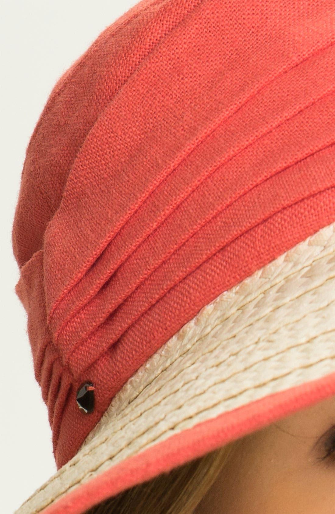Alternate Image 2  - Nordstrom Linen Crown Sun Hat