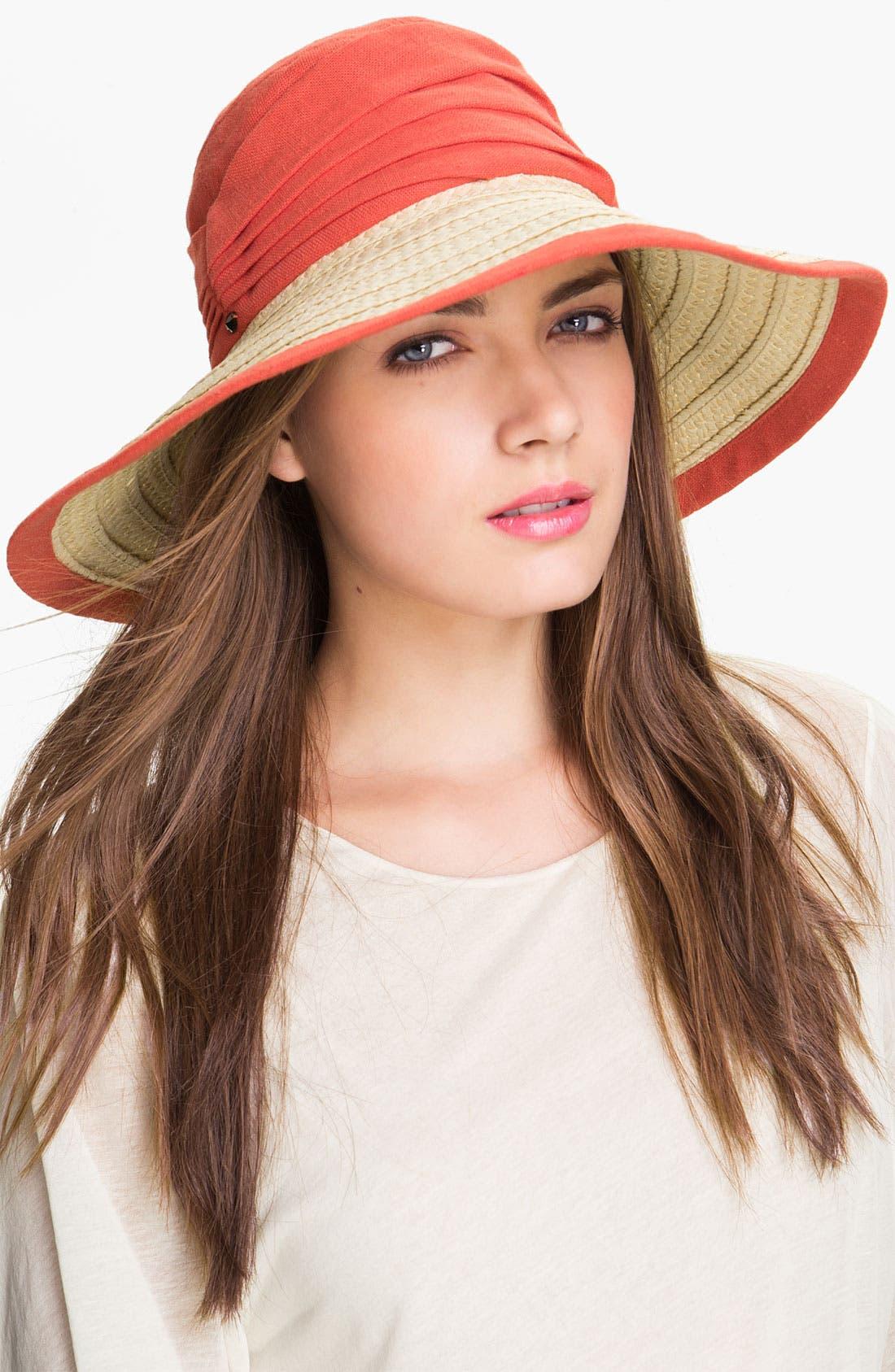 Main Image - Nordstrom Linen Crown Sun Hat