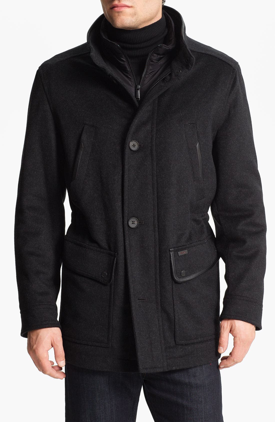 Alternate Image 1 Selected - Tumi Wool & Cashmere Blend Car Coat