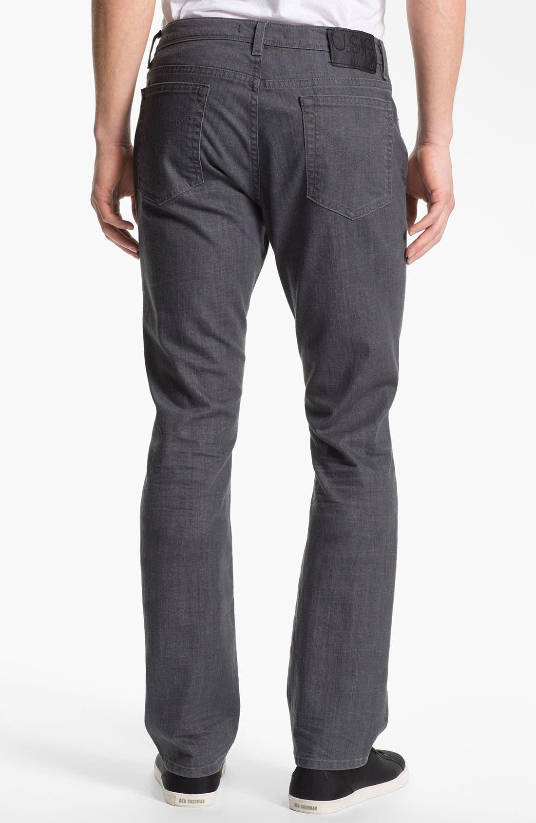 Alternate Image 2  - John Varvatos Star USA 'Bowery' Slim Straight Leg Jeans (Steel Grey)