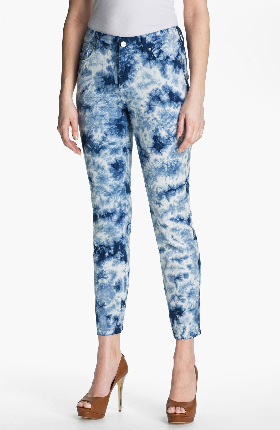 Main Image - NYDJ 'Alisha' Print Skinny Stretch Ankle Jeans