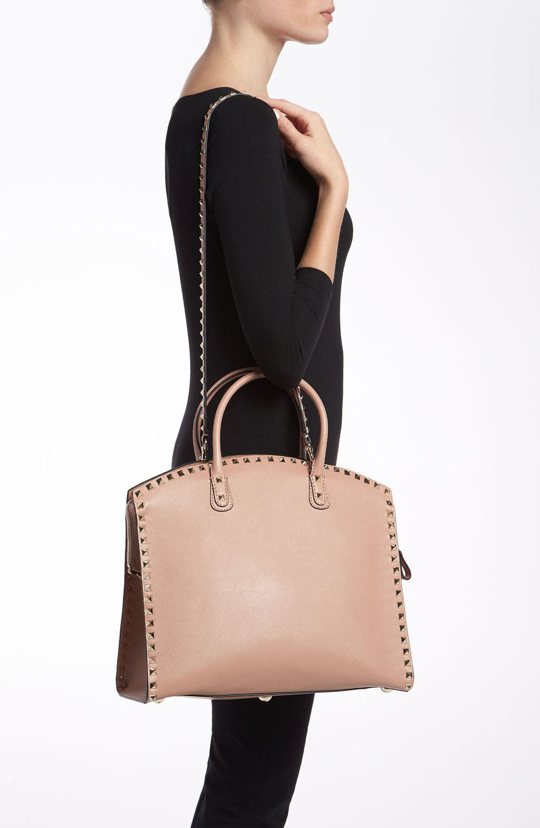 Alternate Image 2  - Valentino 'Rockstud' Leather Dome Satchel